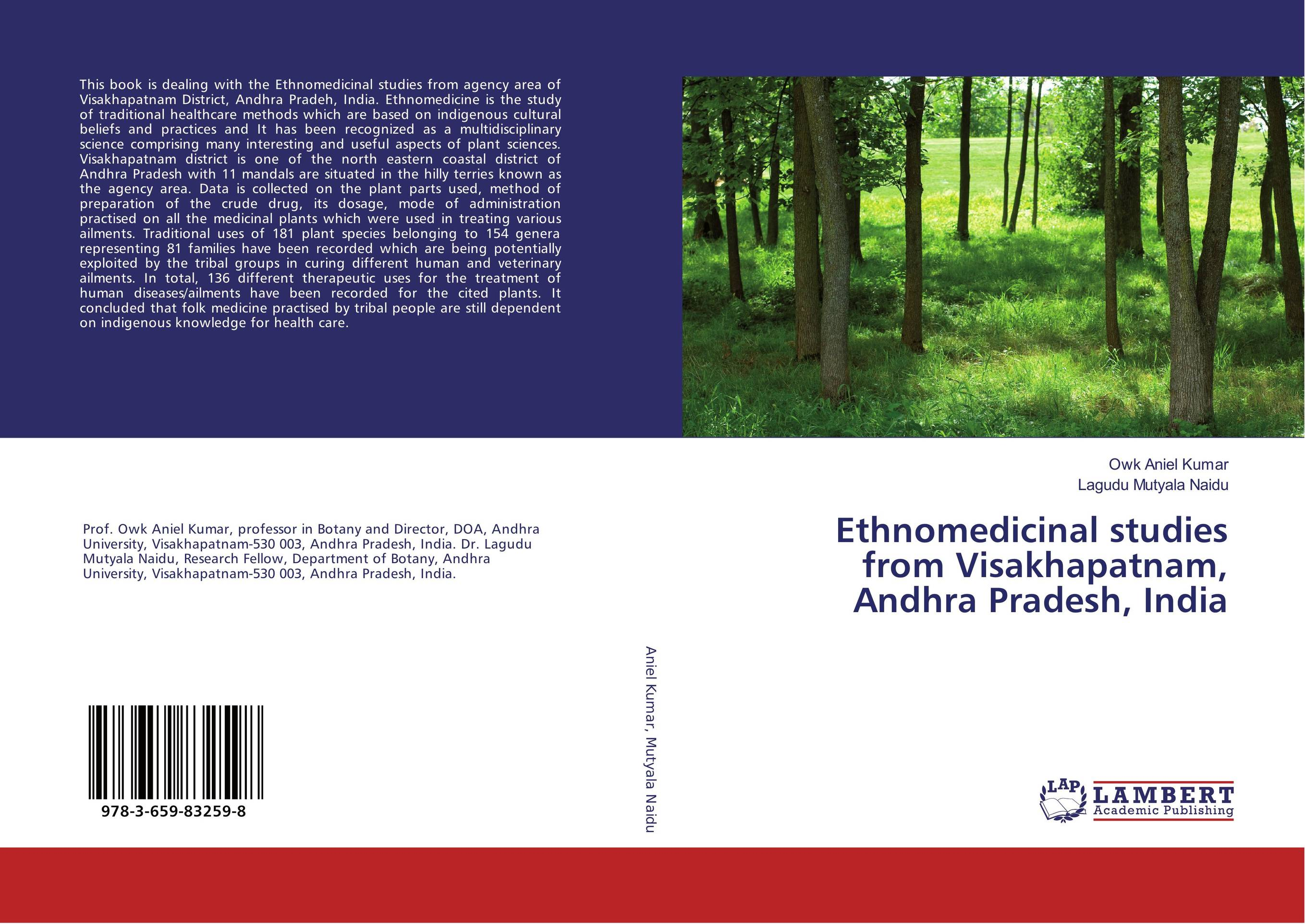 Ethnomedicinal studies from Visakhapatnam, Andhra Pradesh, India geochemistry of groundwater in a river basin of andhra pradesh india