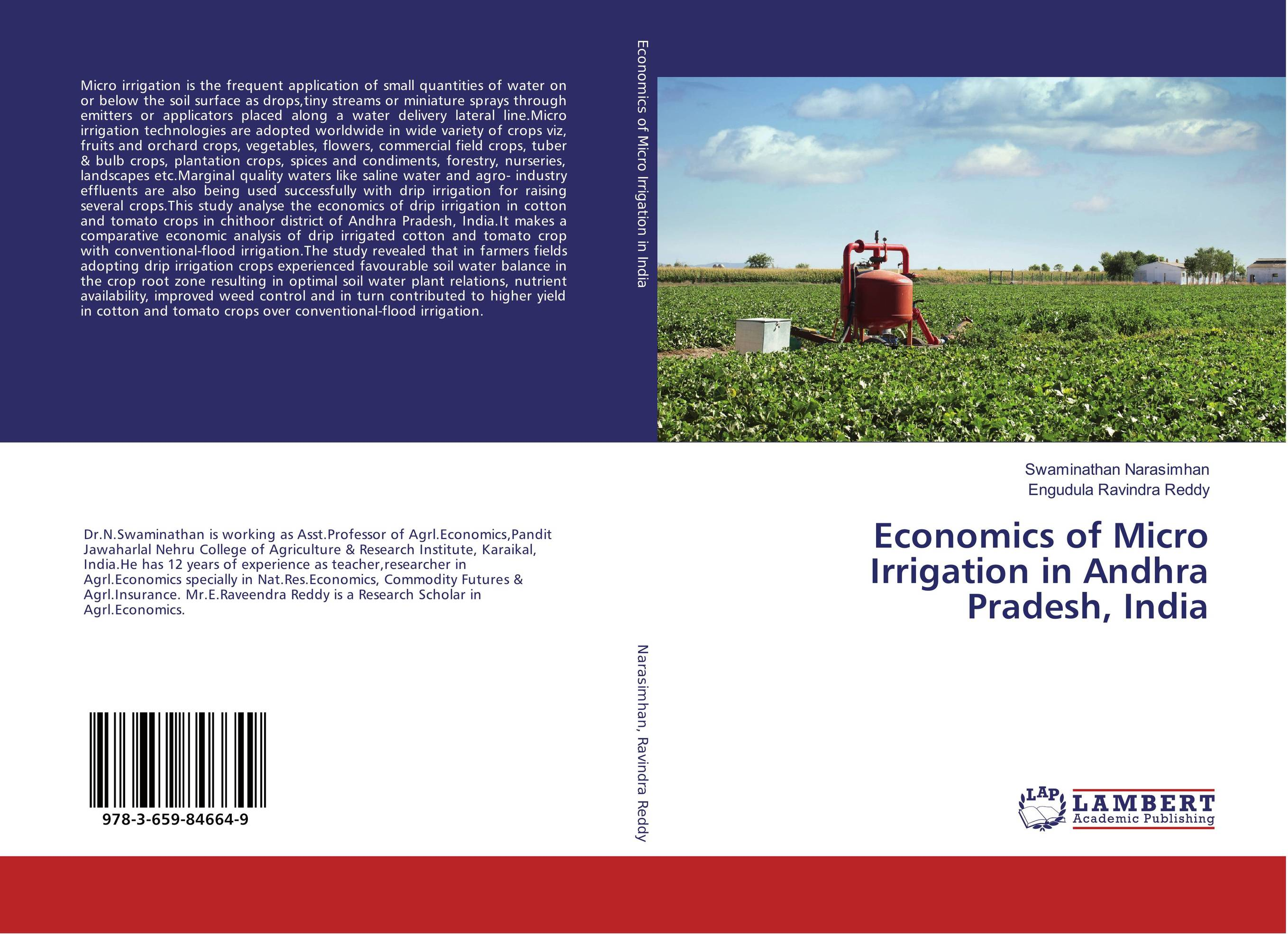 Economics of Micro Irrigation in Andhra Pradesh, India geochemistry of groundwater in a river basin of andhra pradesh india