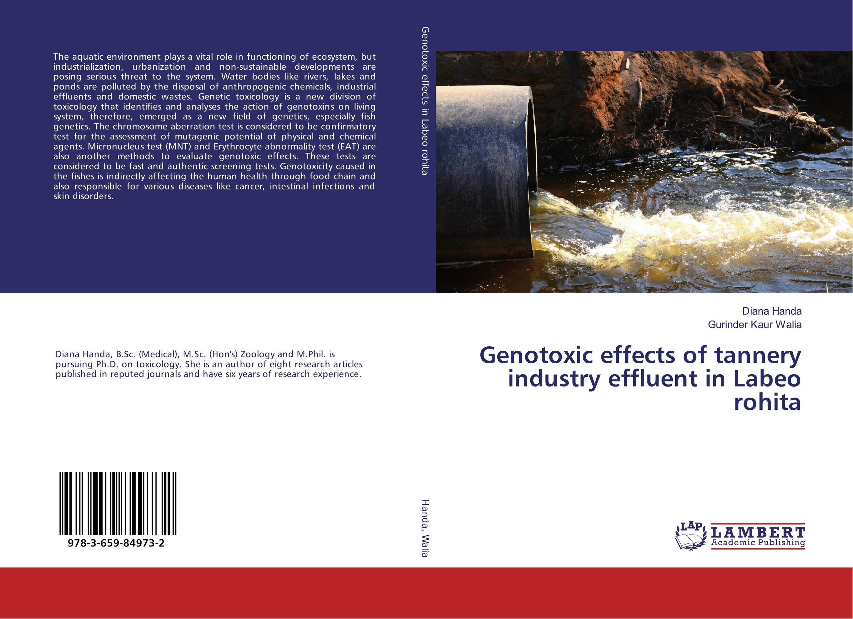 Genotoxic effects of tannery industry effluent in Labeo rohita genotoxic effects of tannery industry effluent in labeo rohita