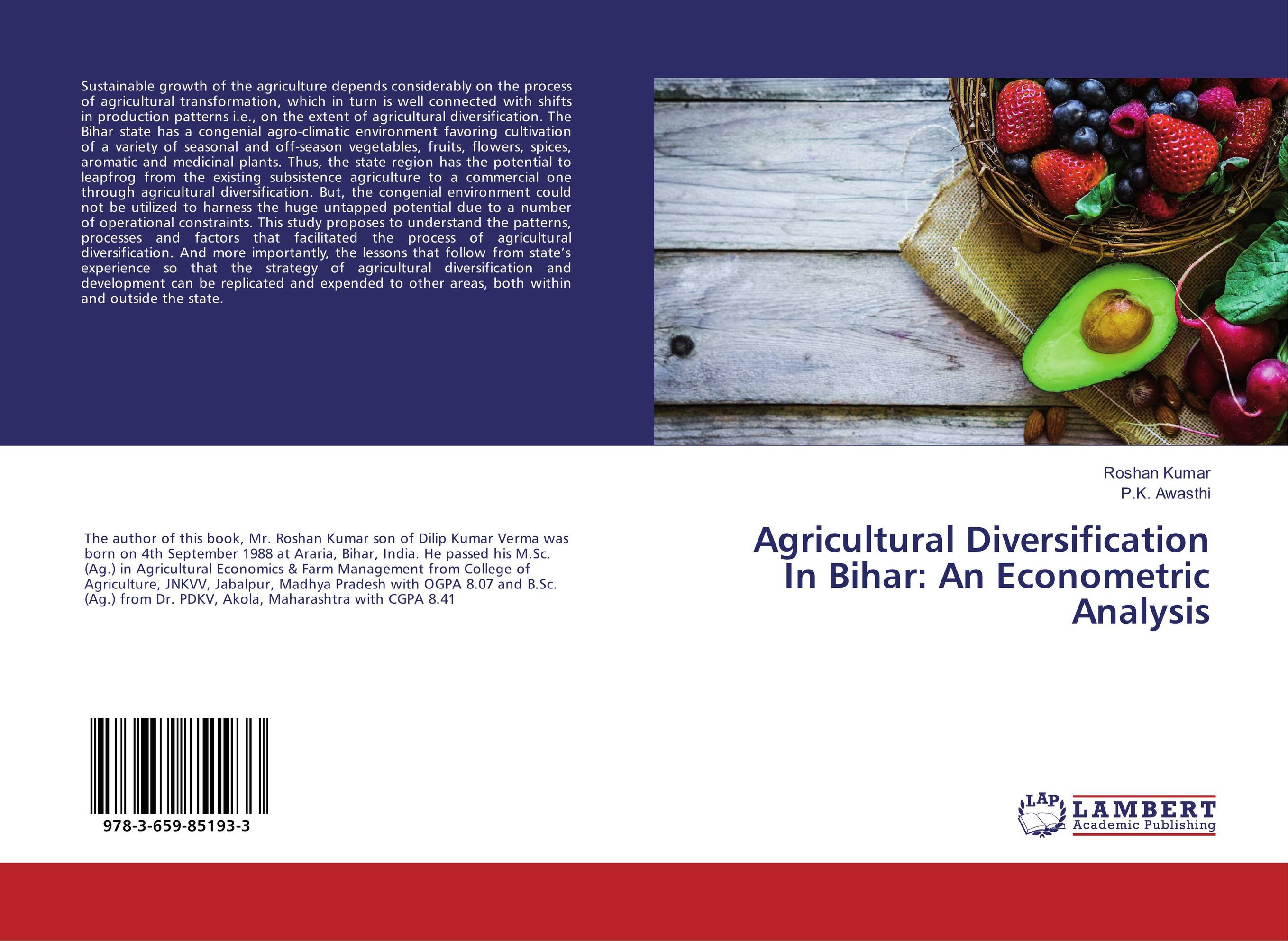 Agricultural Diversification In Bihar: An Econometric Analysis affair of state an
