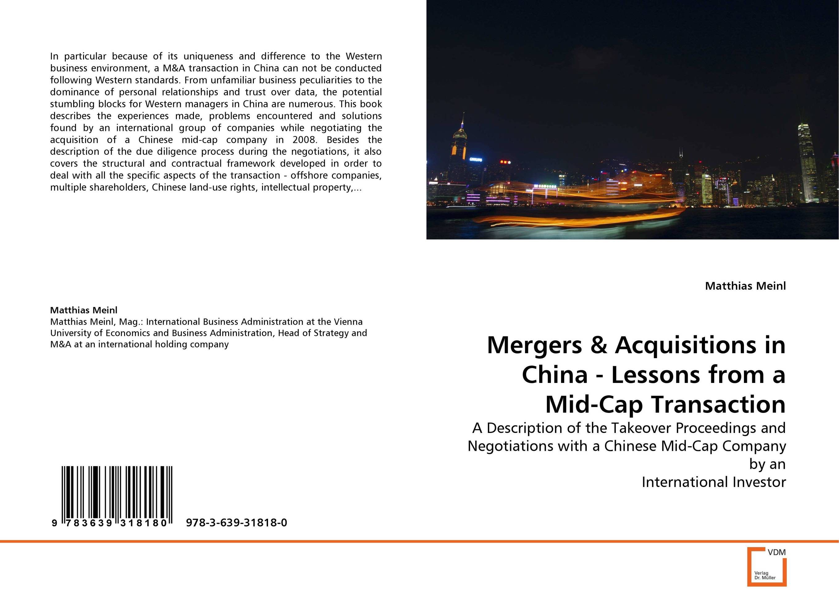 Mergers & Acquisitions in China - Lessons from a Mid-Cap Transaction allison graham from business cards to business relationships personal branding and profitable networking made easy