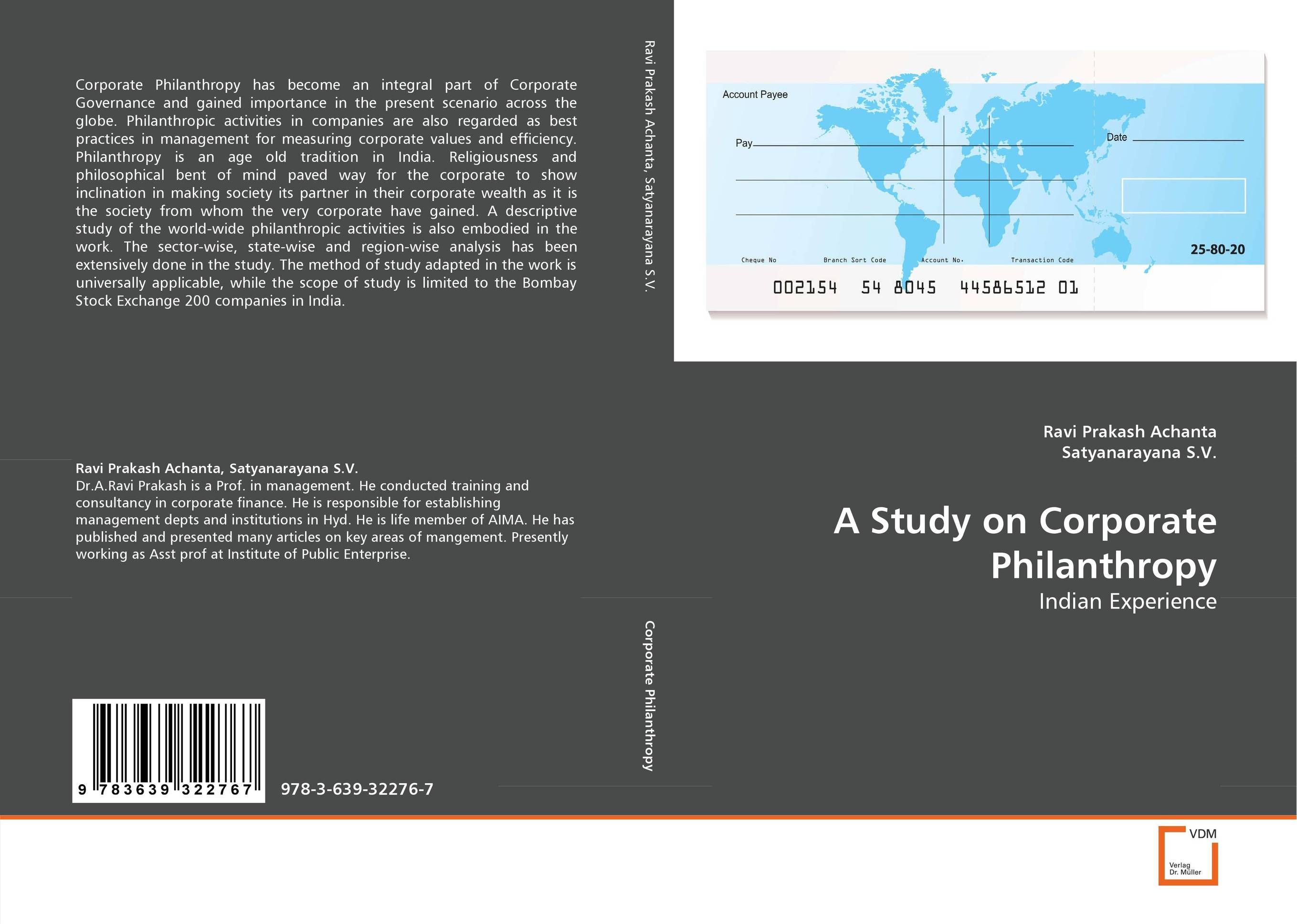 A Study on Corporate Philanthropy affair of state an