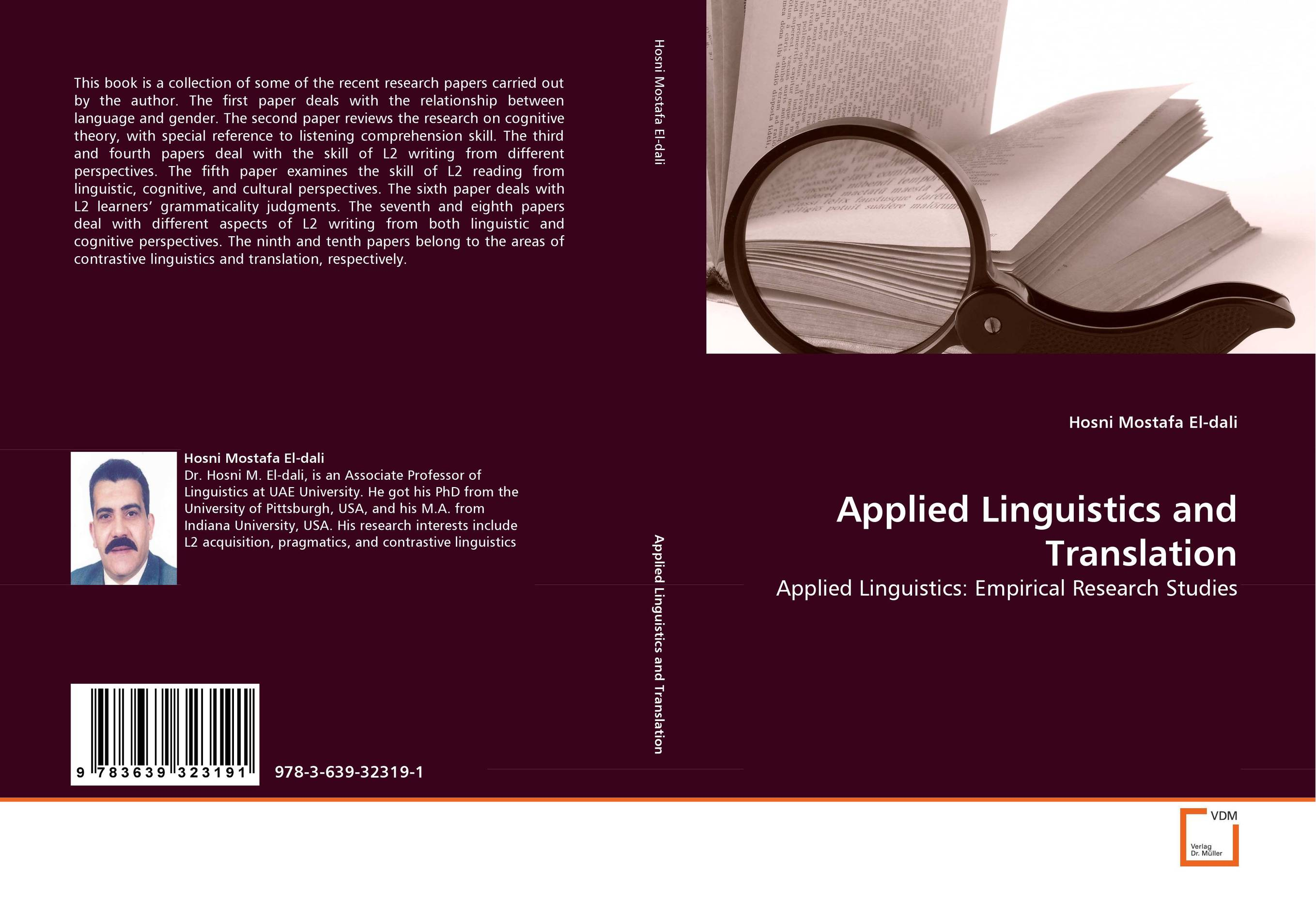 Applied Linguistics and Translation the handbook of translation and cognition