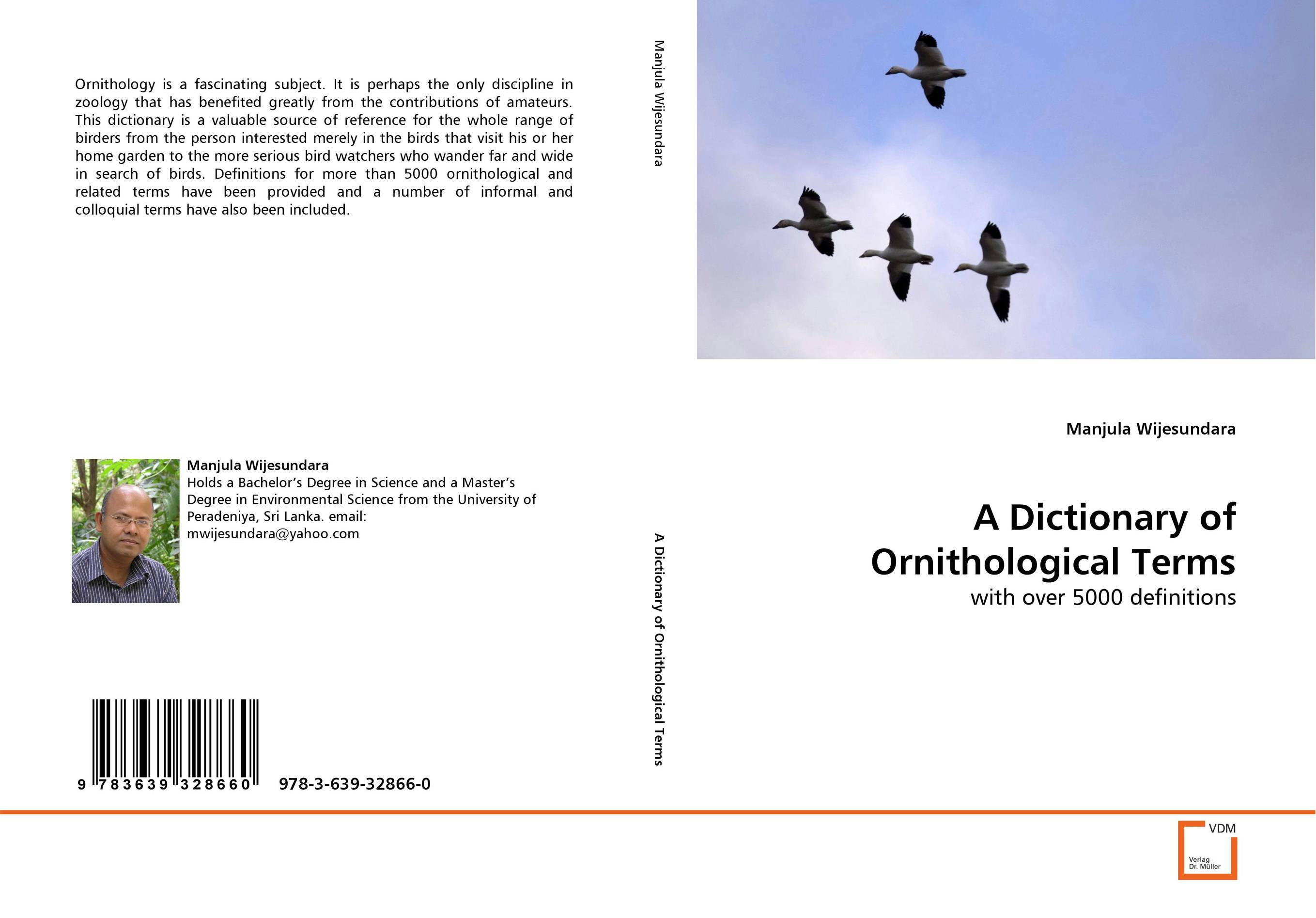 A Dictionary of Ornithological Terms a dictionary of ornithological terms