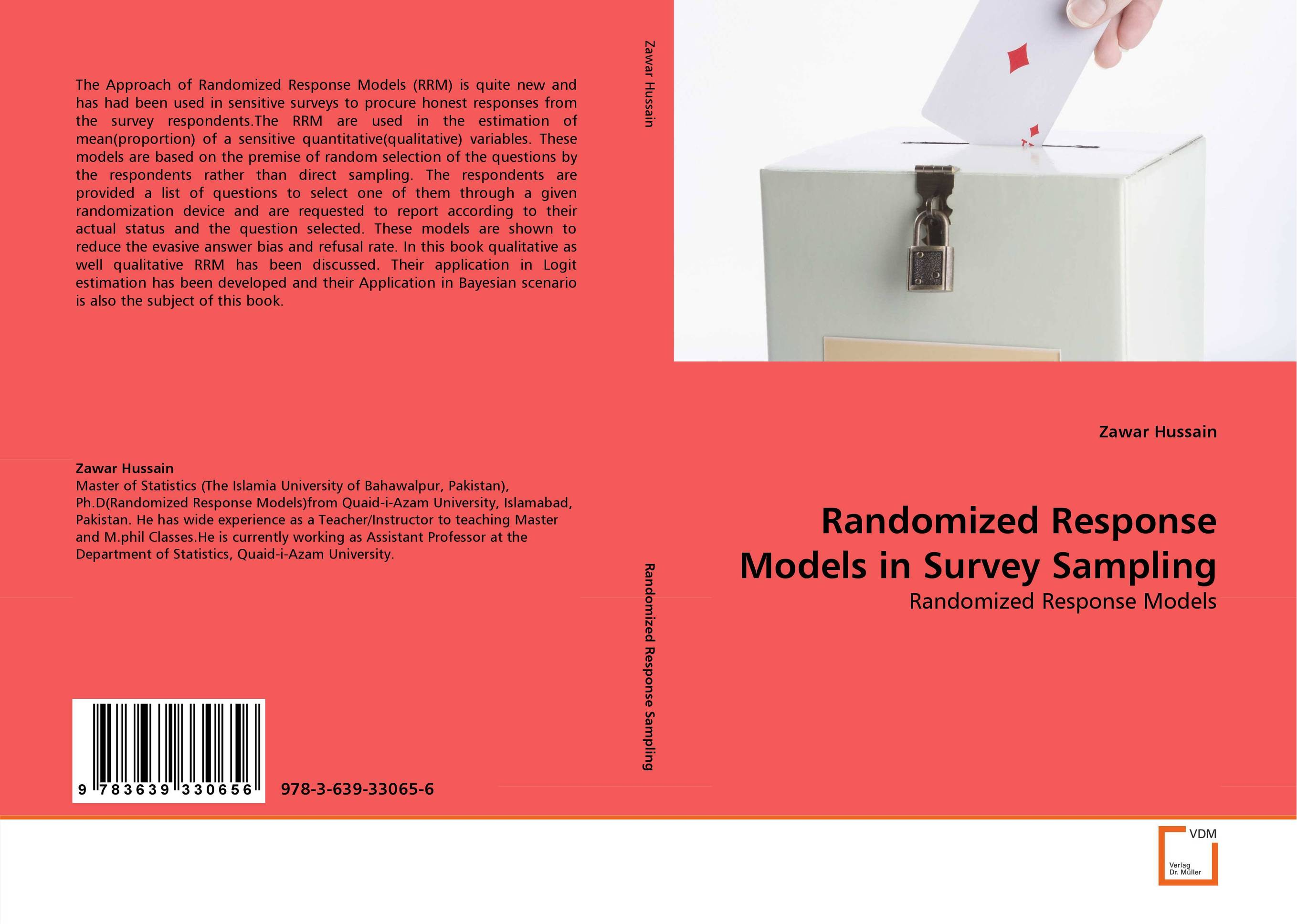 Randomized Response Models in Survey Sampling seunghwan shin and venky shankar selection bias and heterogeneity in severity models