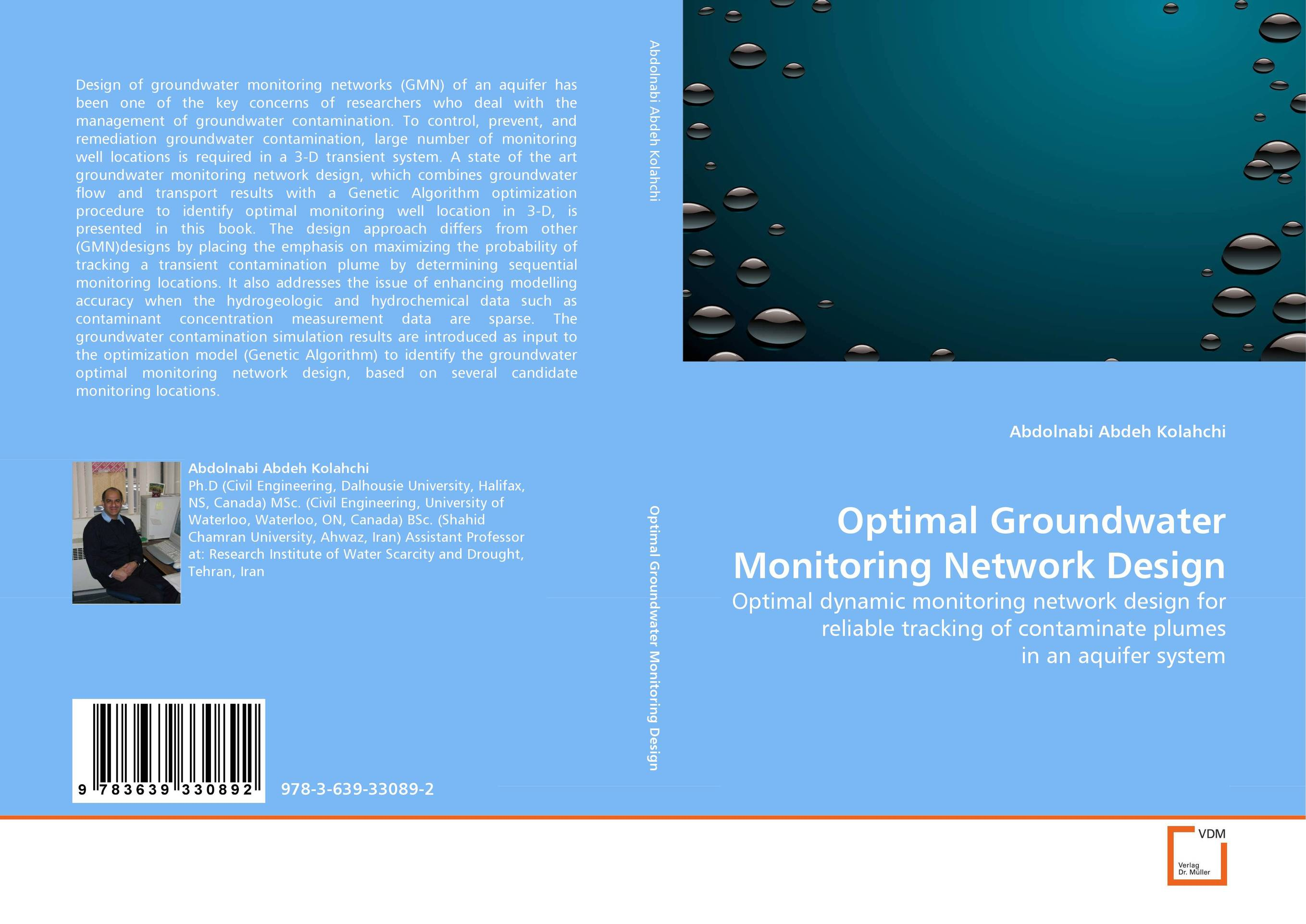 Optimal Groundwater Monitoring Network Design locations