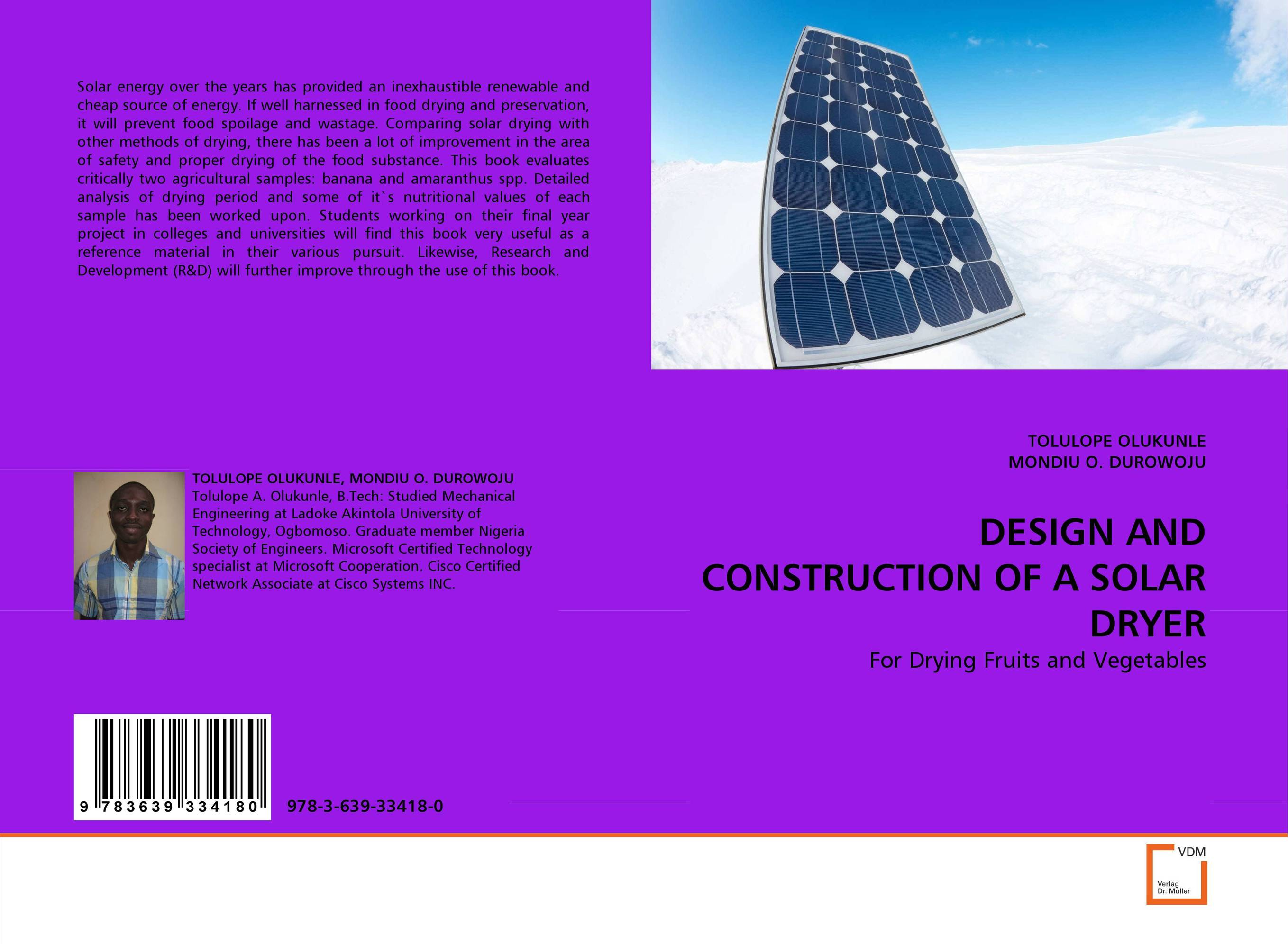 DESIGN AND CONSTRUCTION OF A SOLAR DRYER