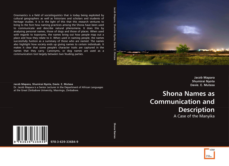 Shona Names as Communication and Description the names