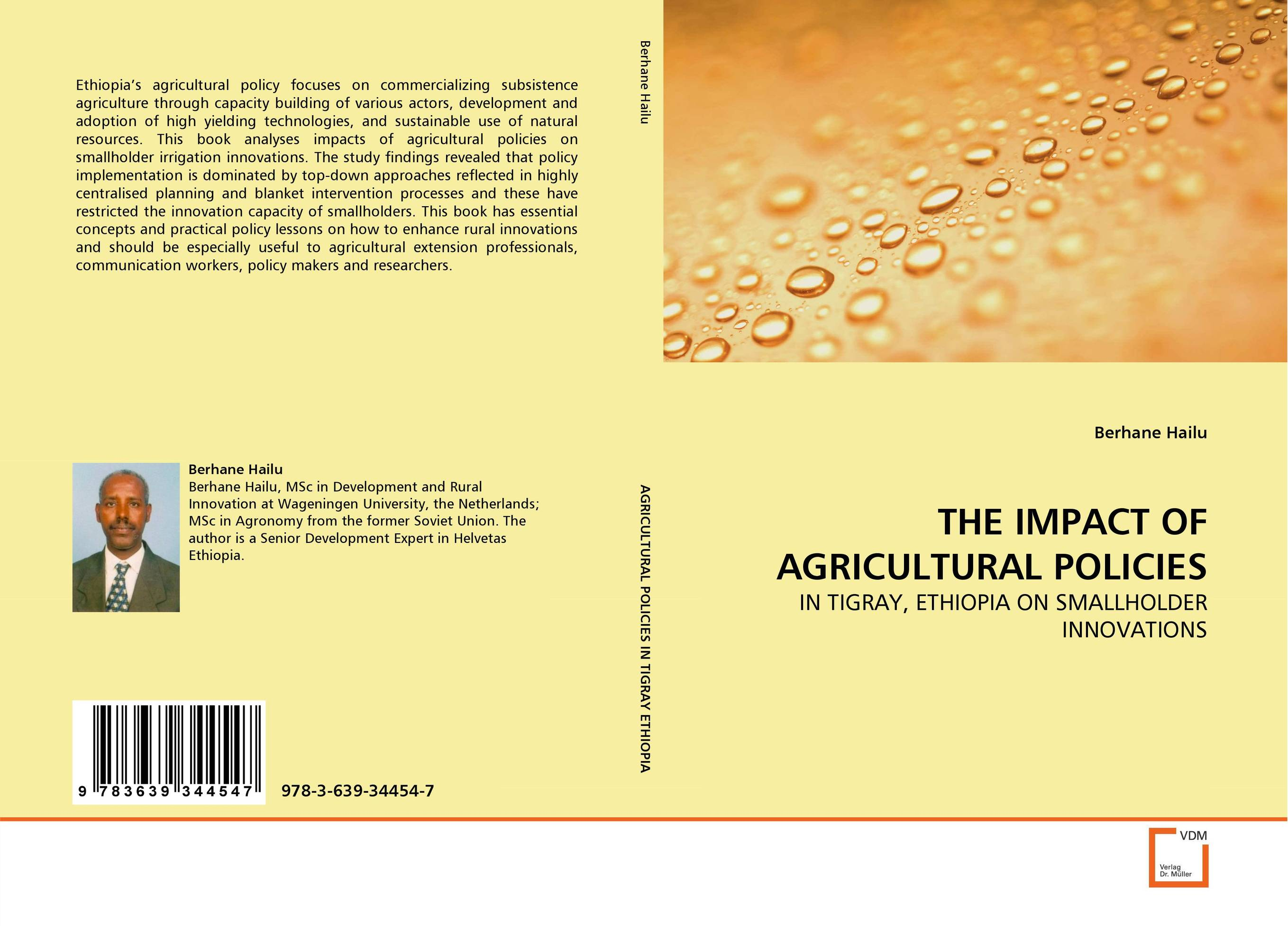 THE IMPACT OF AGRICULTURAL POLICIES cold storage accessibility and agricultural production by smallholders