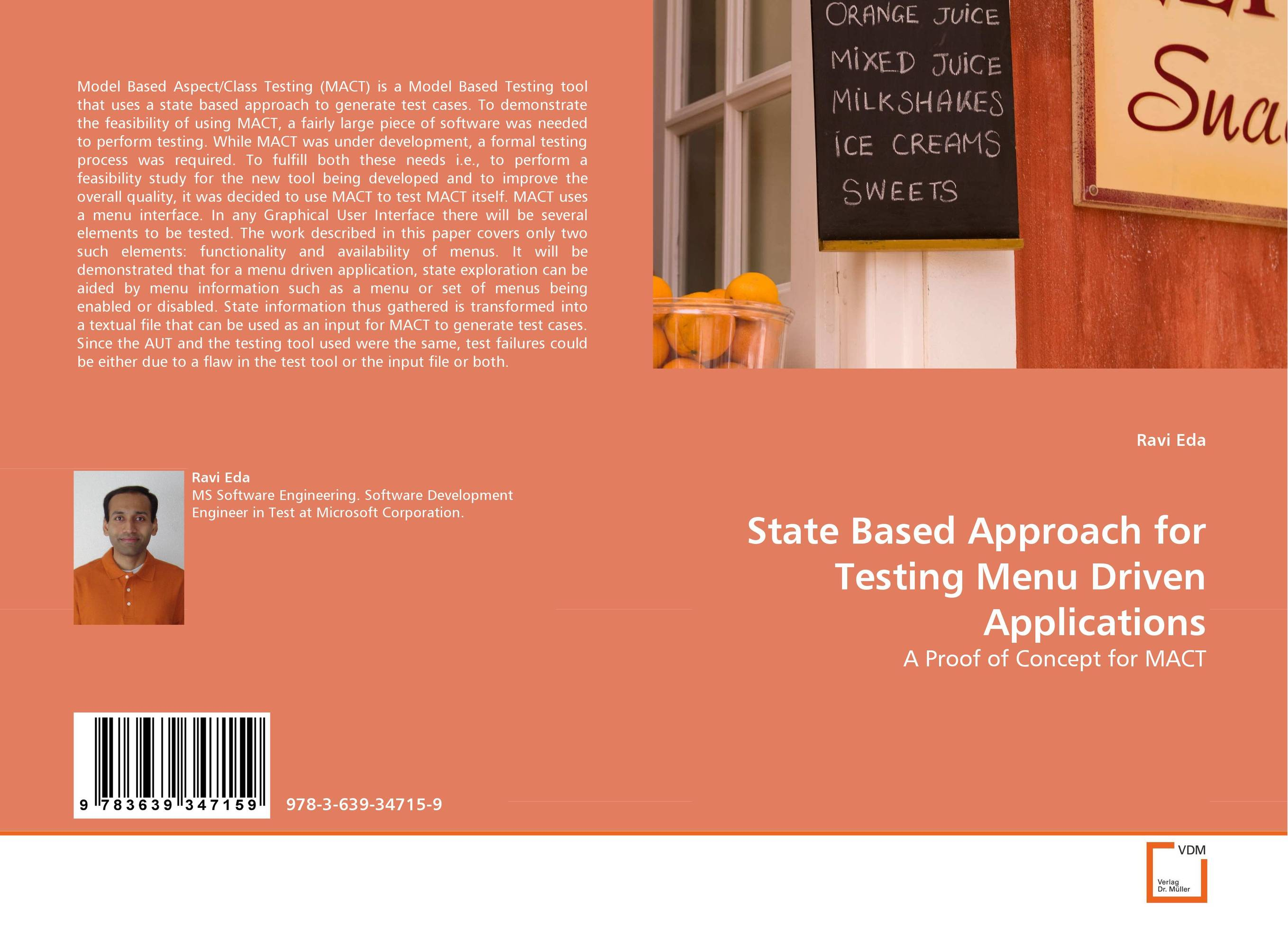 State Based Approach for Testing Menu Driven Applications driven to distraction