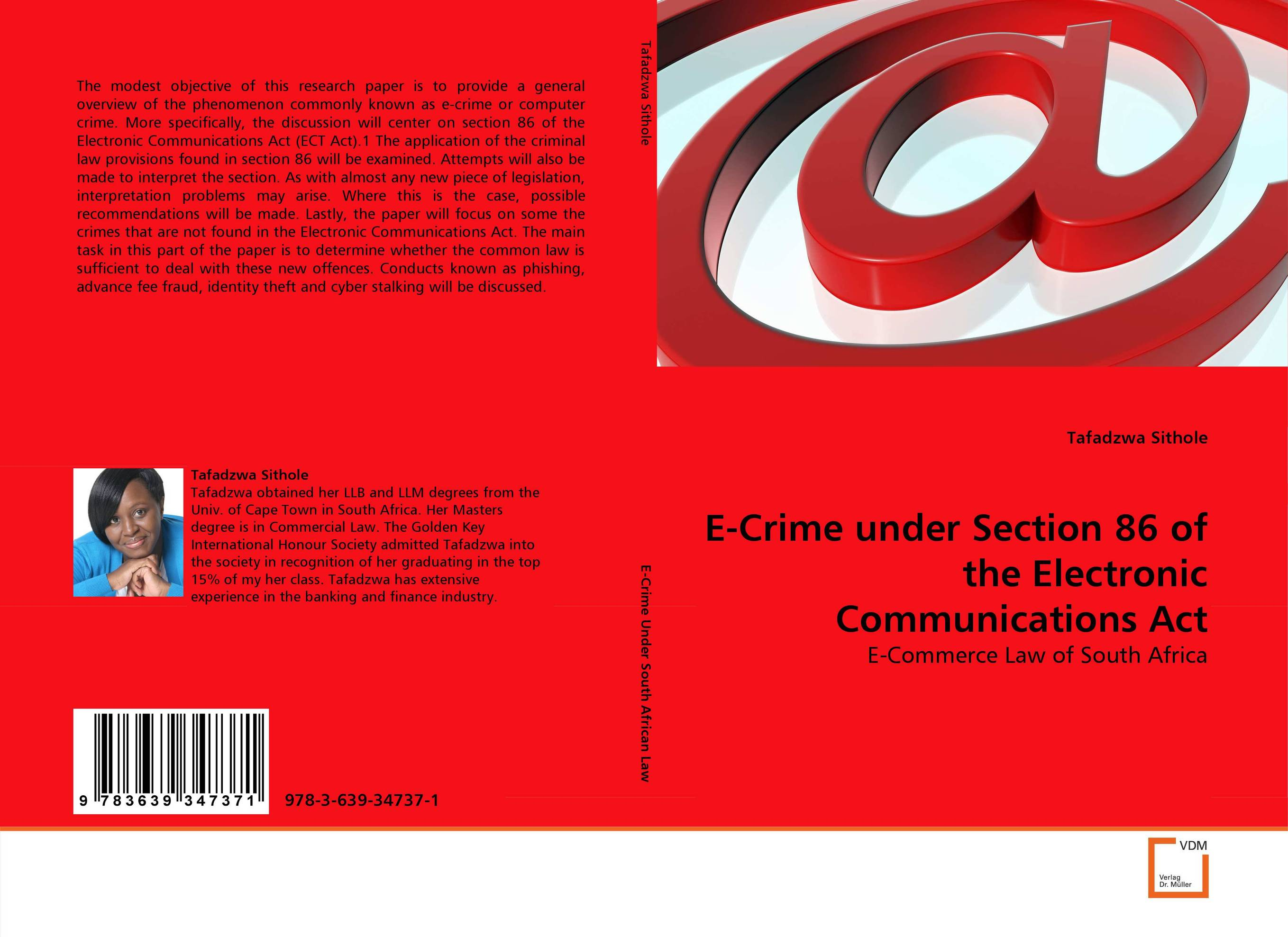 E-Crime under Section 86 of the Electronic Communications Act tobias h keller telecommunications law under the light of convergence