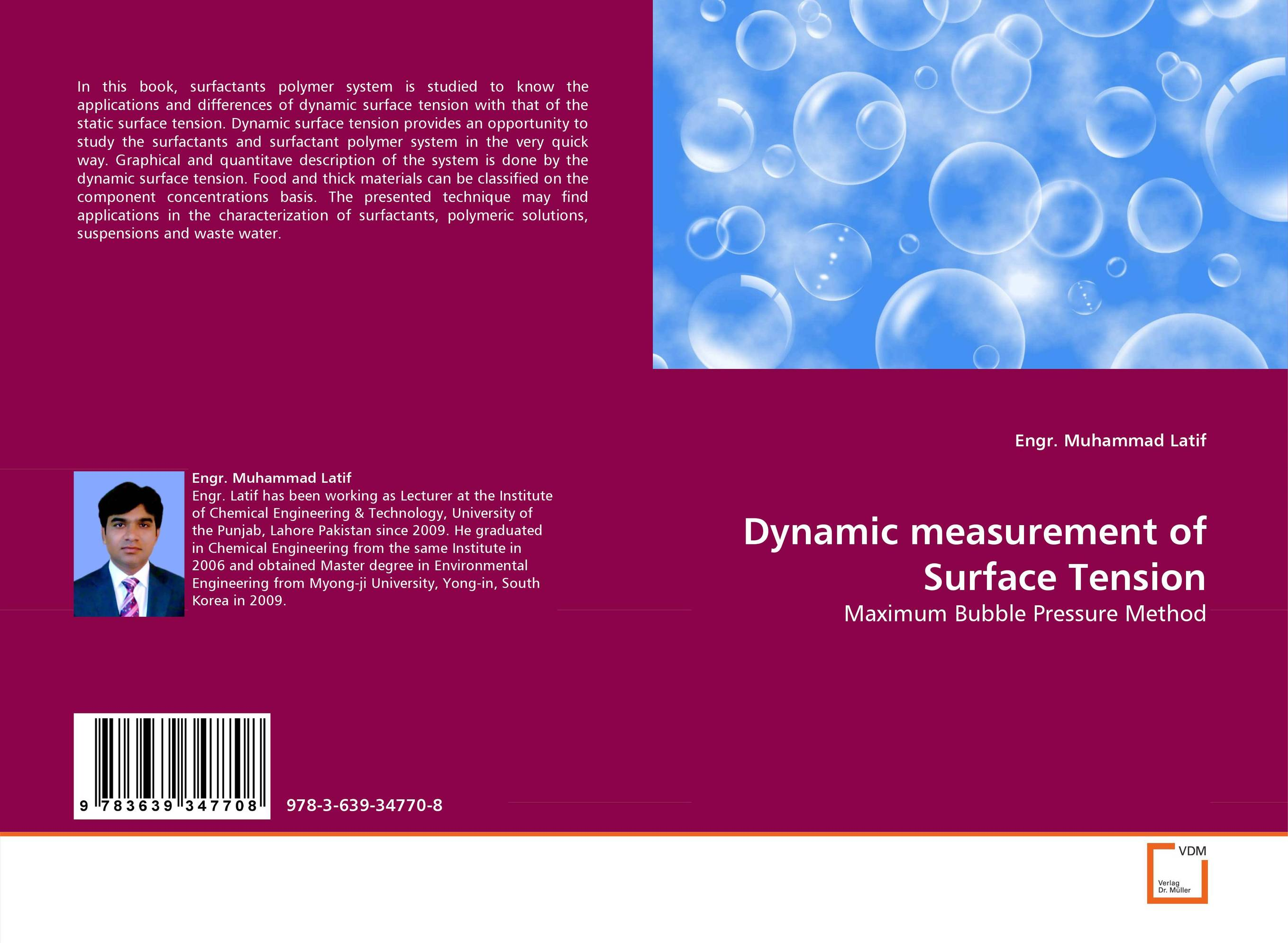 Dynamic measurement of Surface Tension yg902c6 to 220f