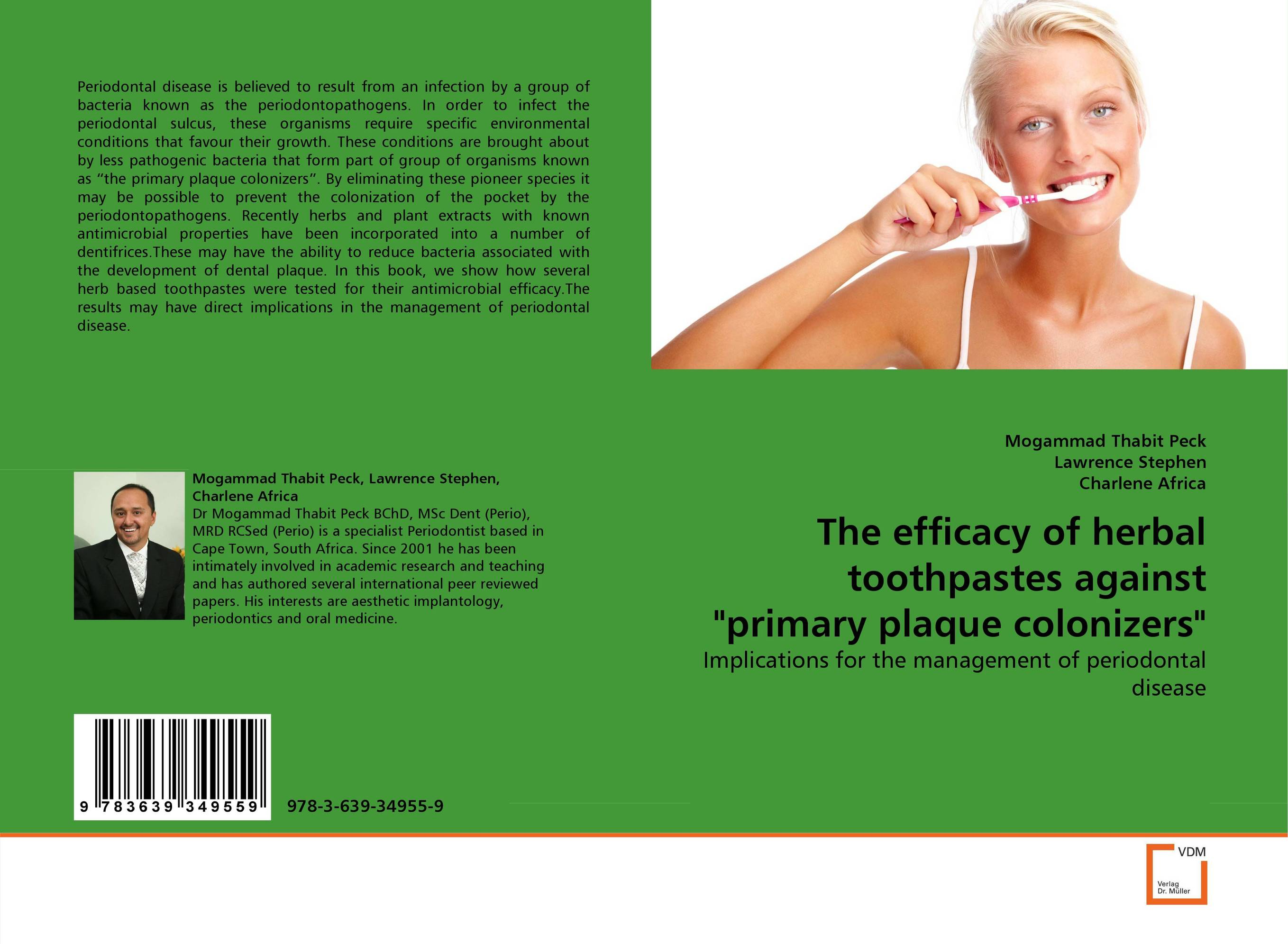 The efficacy of herbal toothpastes against primary plaque colonizers the efficacy of chemotherapetic agents against paramphistomum in sheep