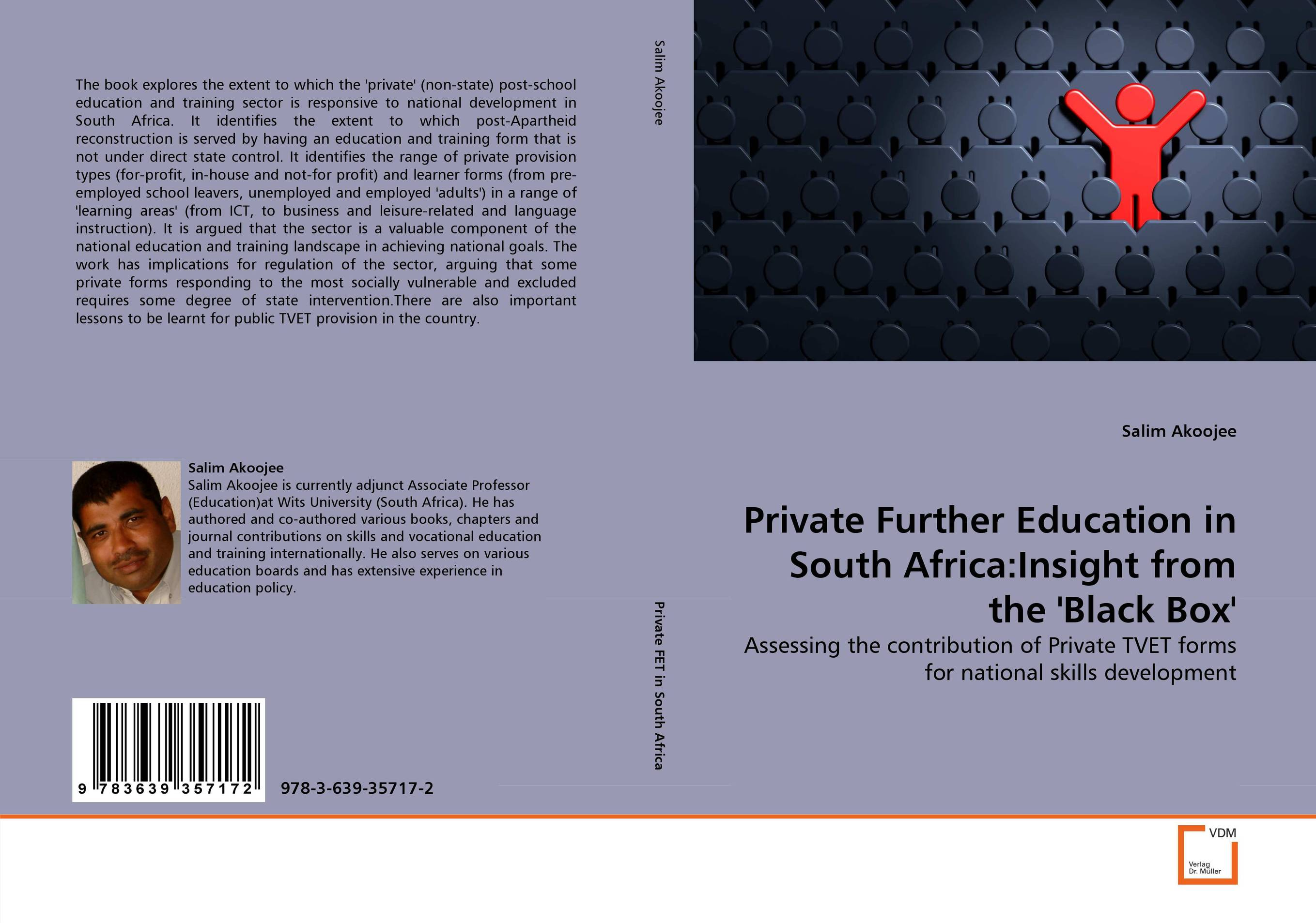 Private Further Education in South Africa:Insight from the ''Black Box'' private sector provision of primary healthcare in ghana