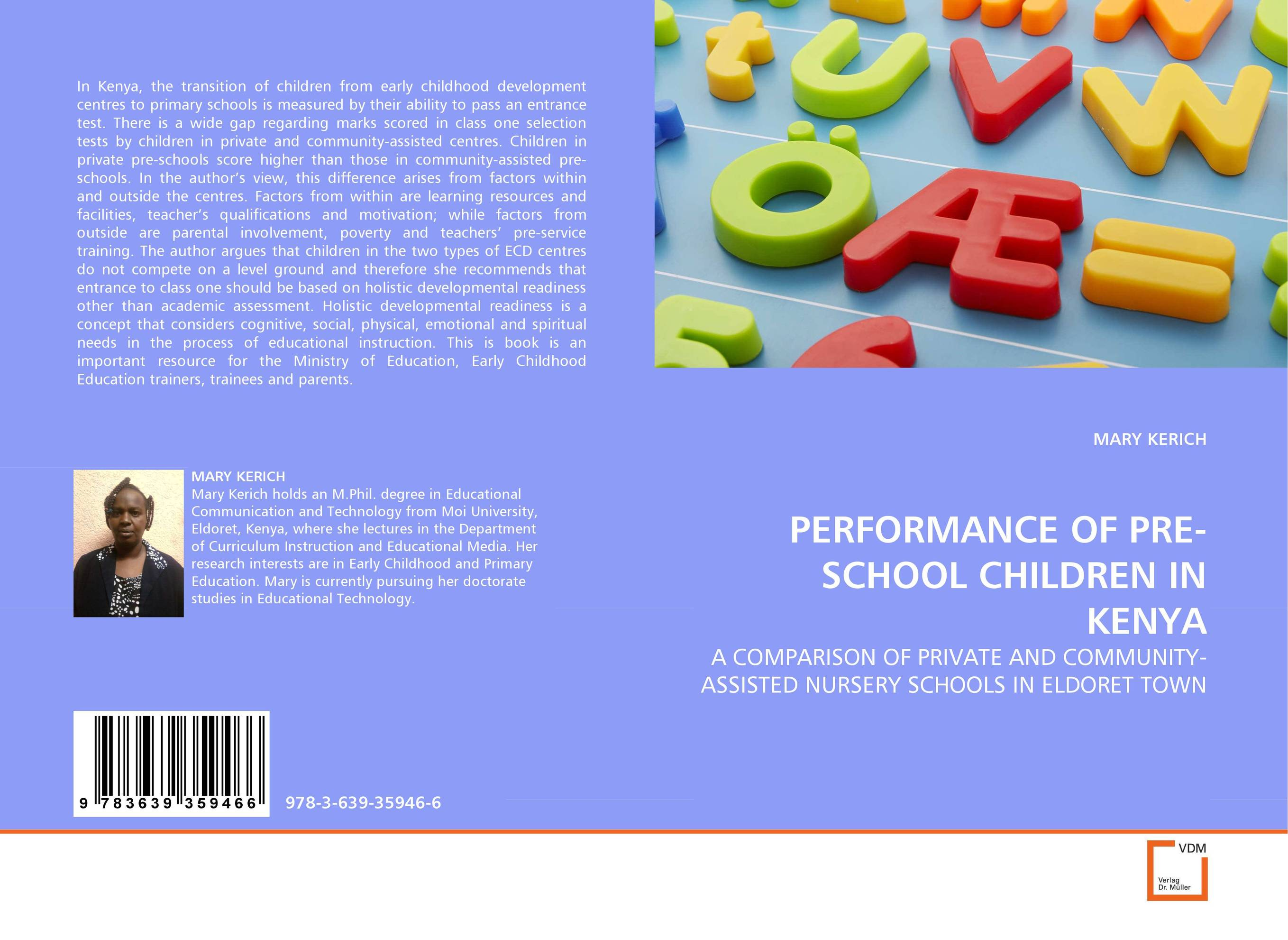PERFORMANCE OF PRE-SCHOOL CHILDREN IN KENYA florence kisirkoi learning needs of street children in kenya