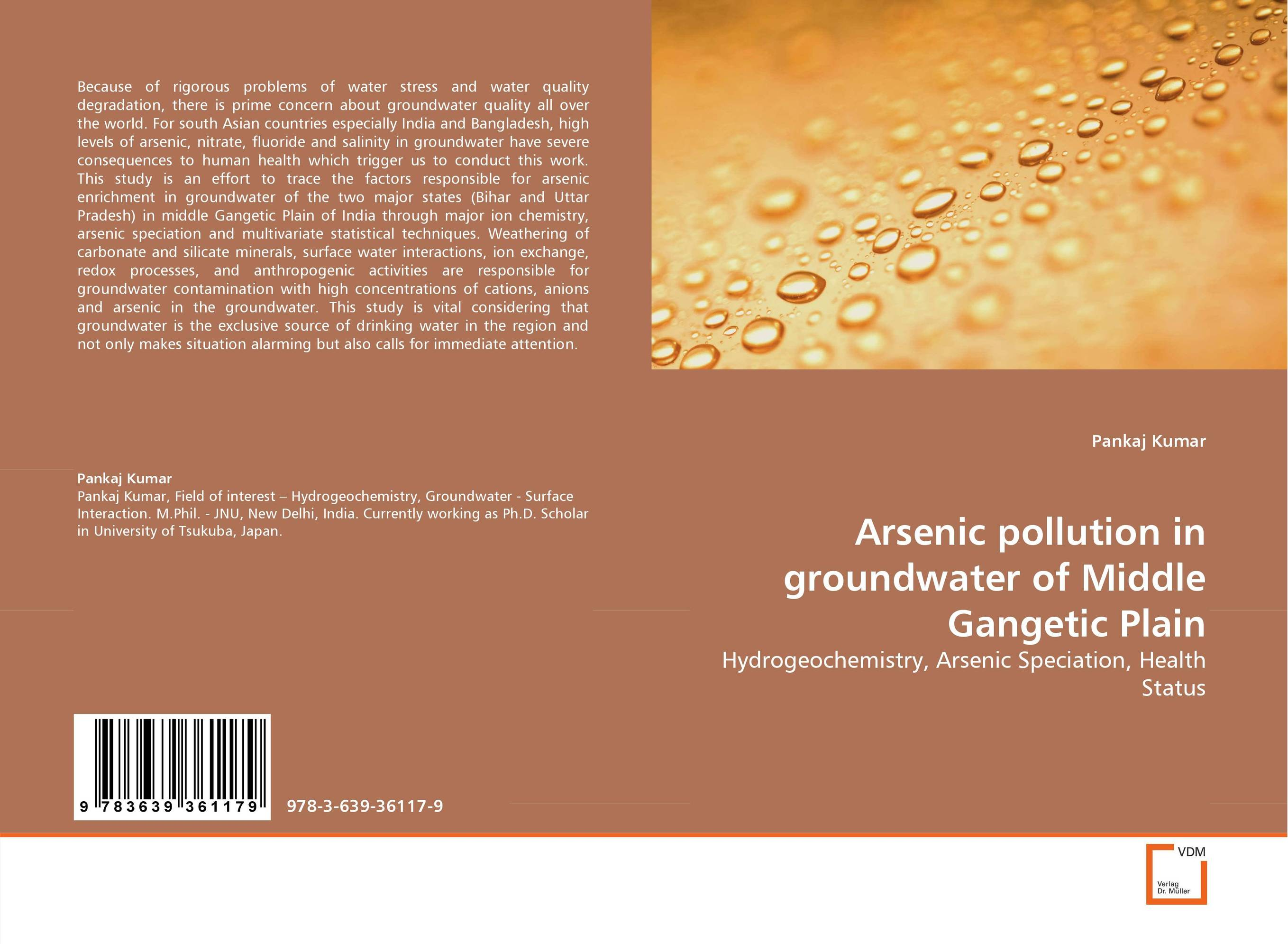 Arsenic pollution in groundwater of Middle Gangetic Plain