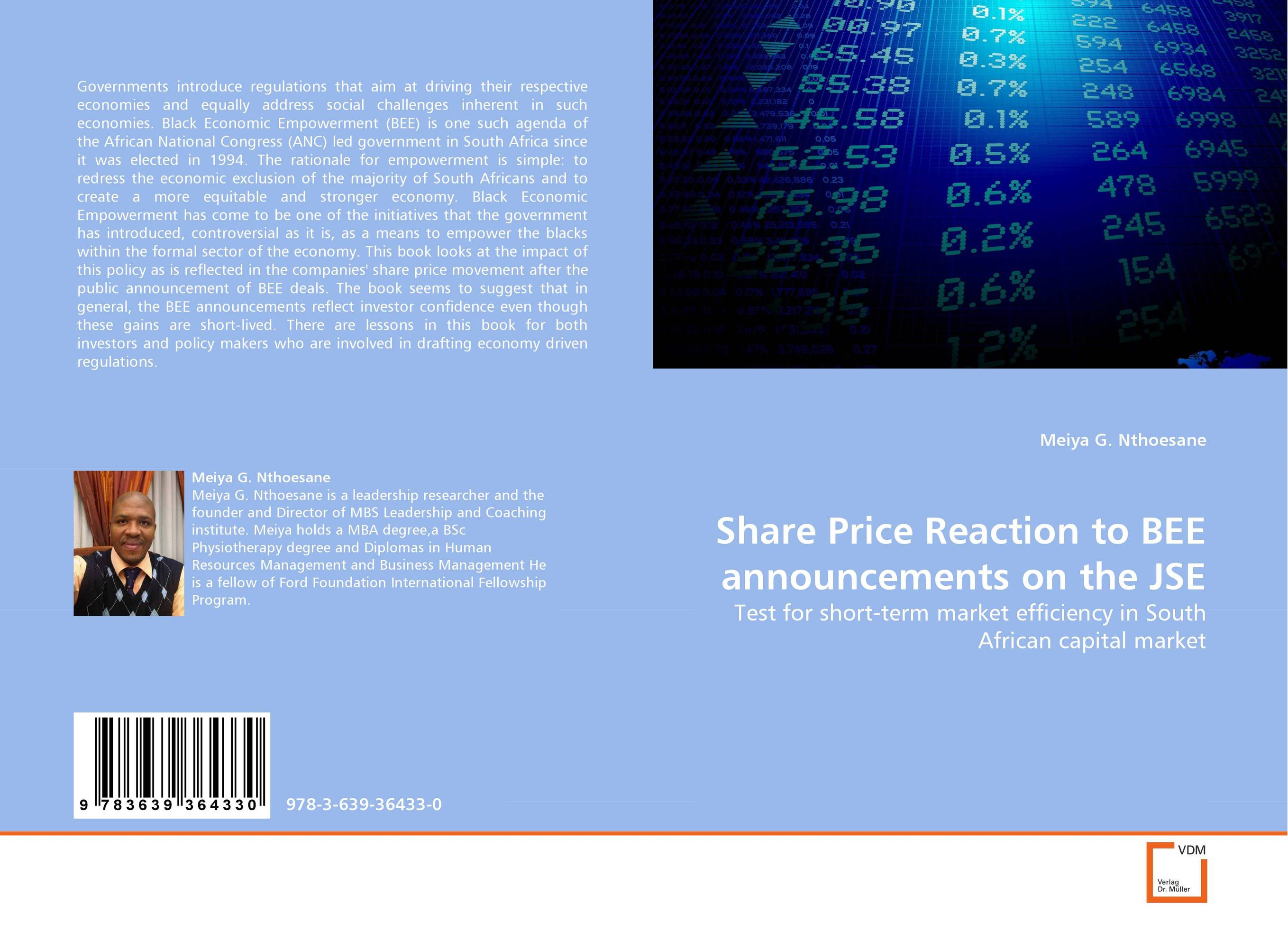 Share Price Reaction to BEE announcements on the JSE