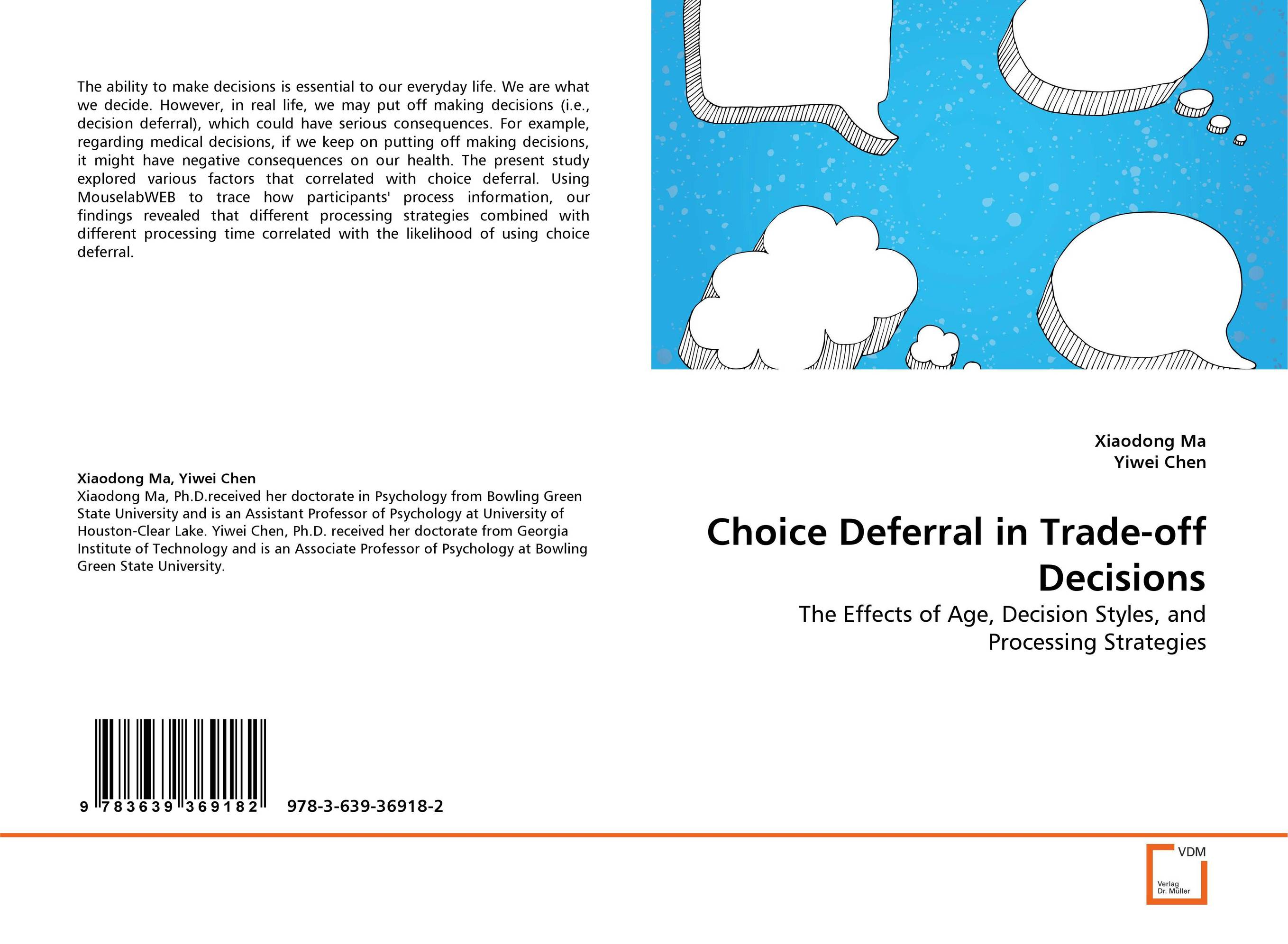 Choice Deferral in Trade-off Decisions course enrollment decisions