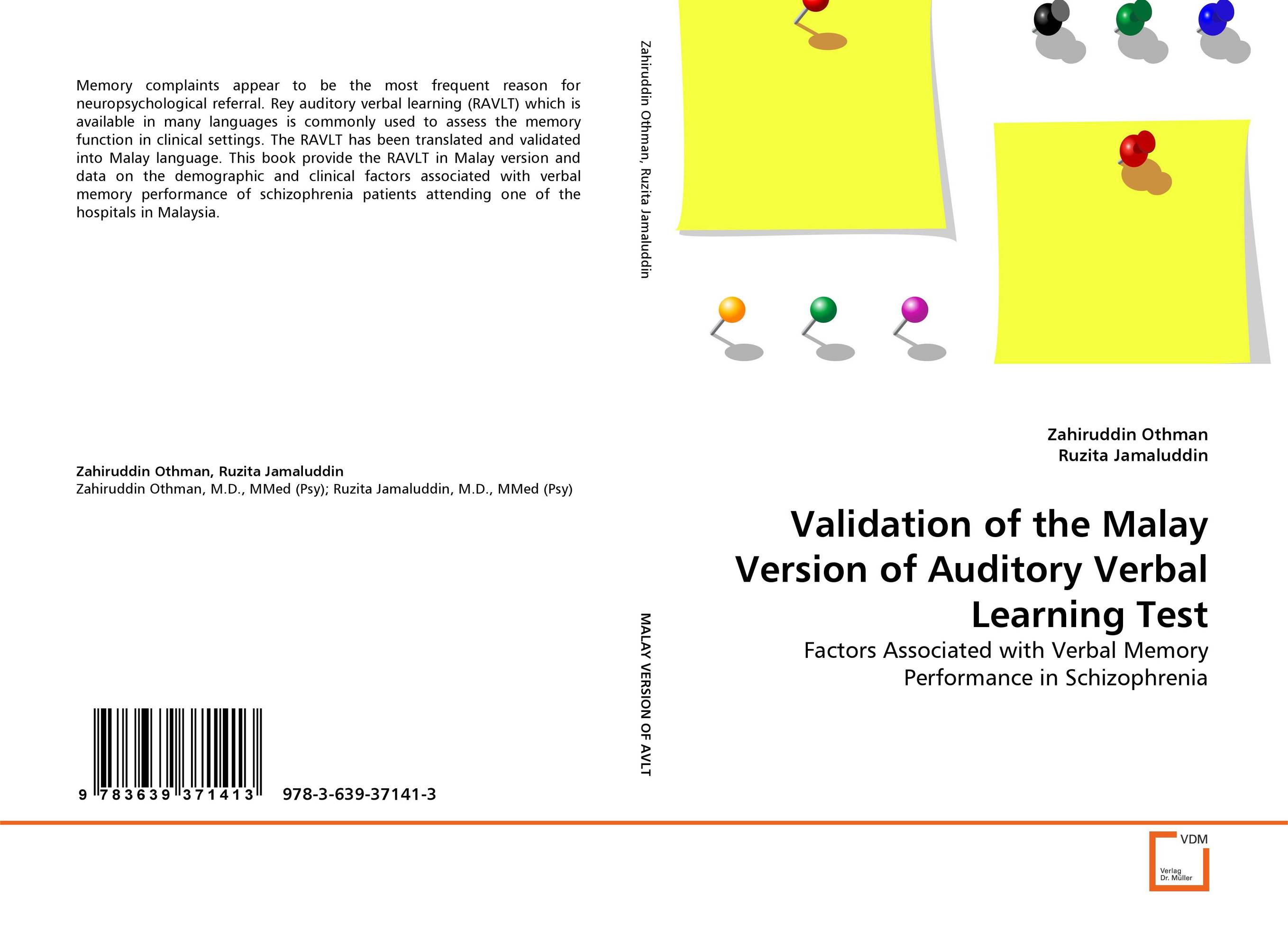 Validation of the Malay Version of Auditory Verbal Learning Test