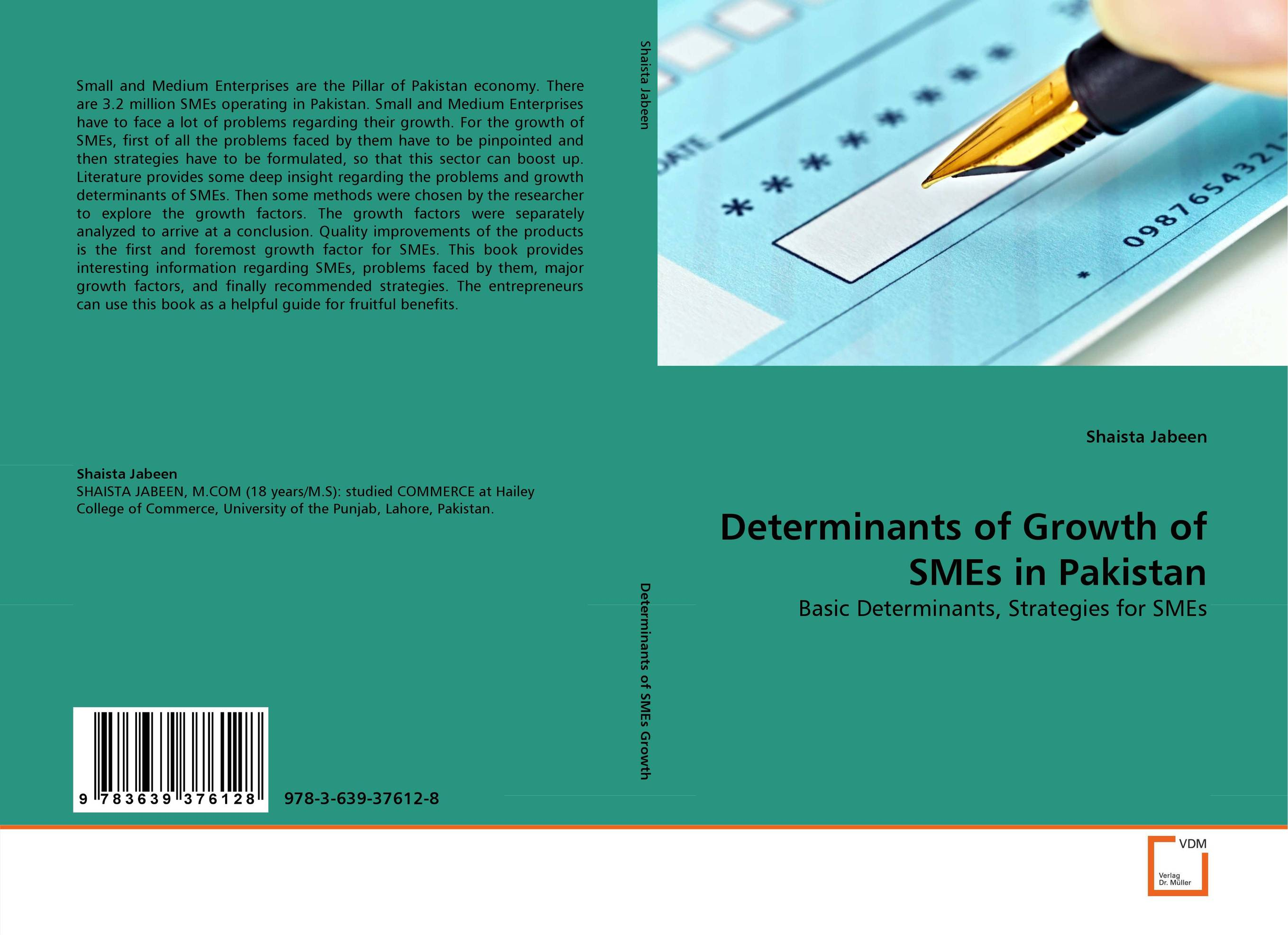 Determinants of Growth of SMEs in Pakistan growth factors