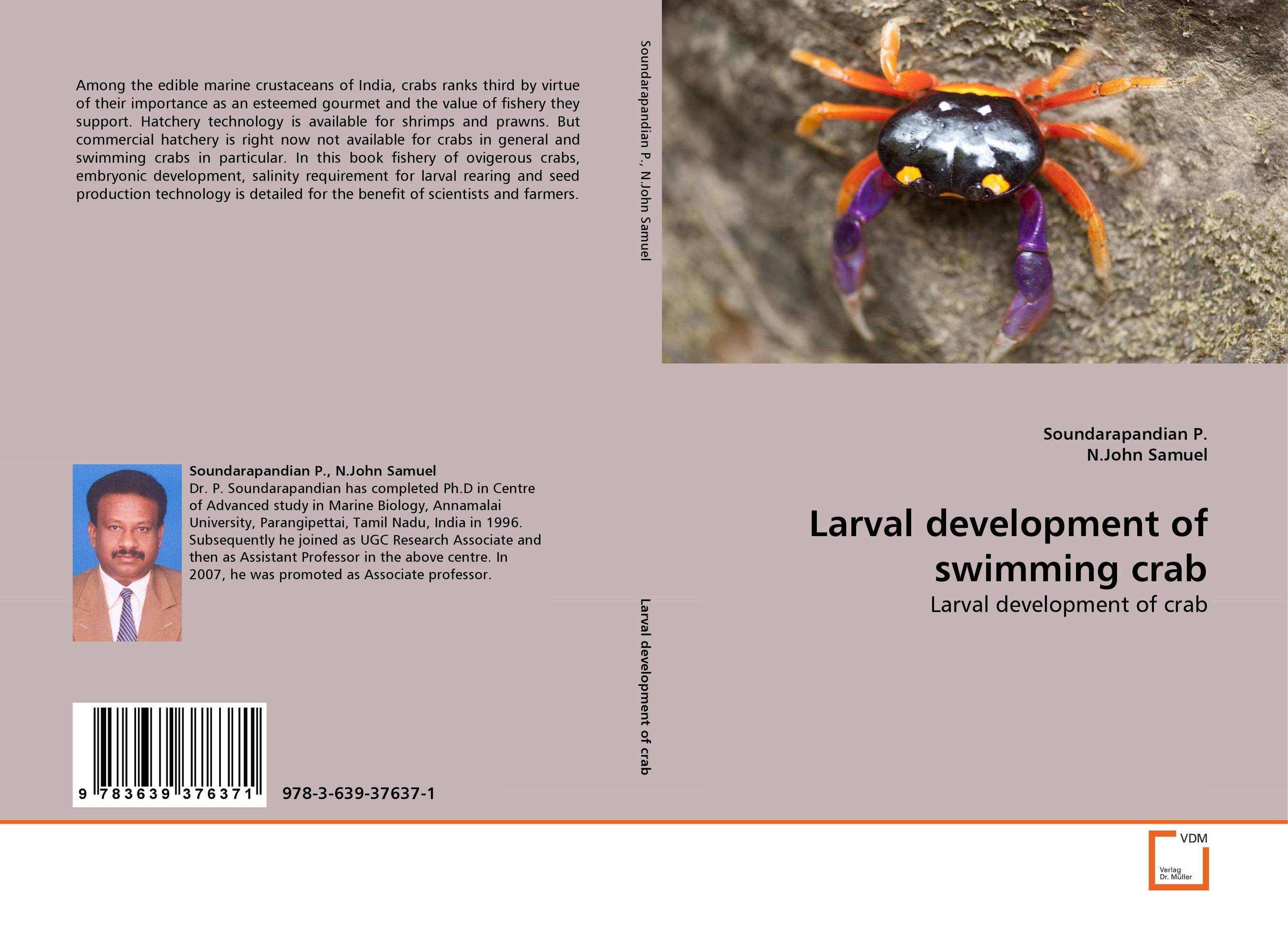 Larval development of swimming crab yu and crabs xuan 2 6 3 0