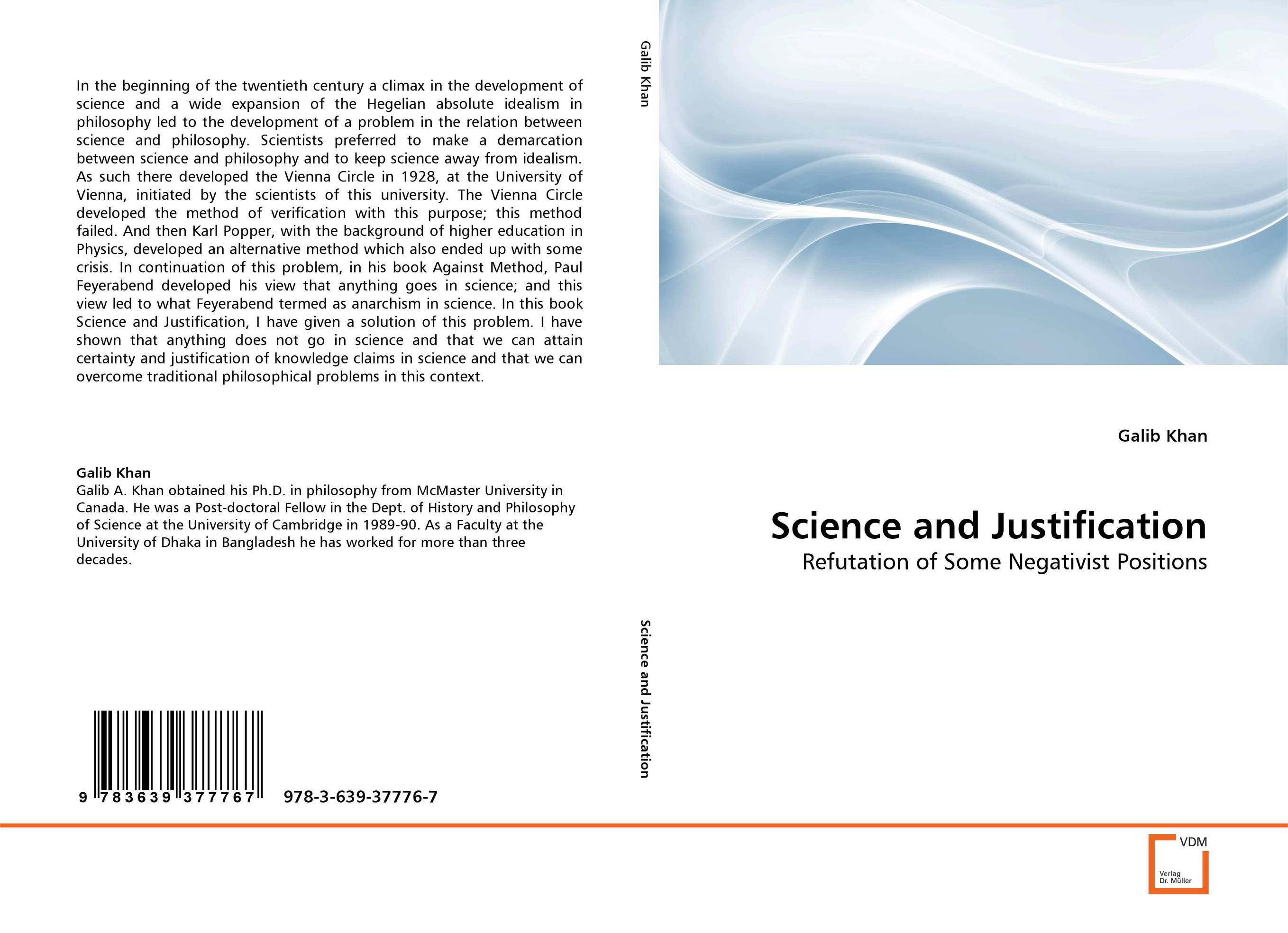 Science and Justification chemistry – the science in context im
