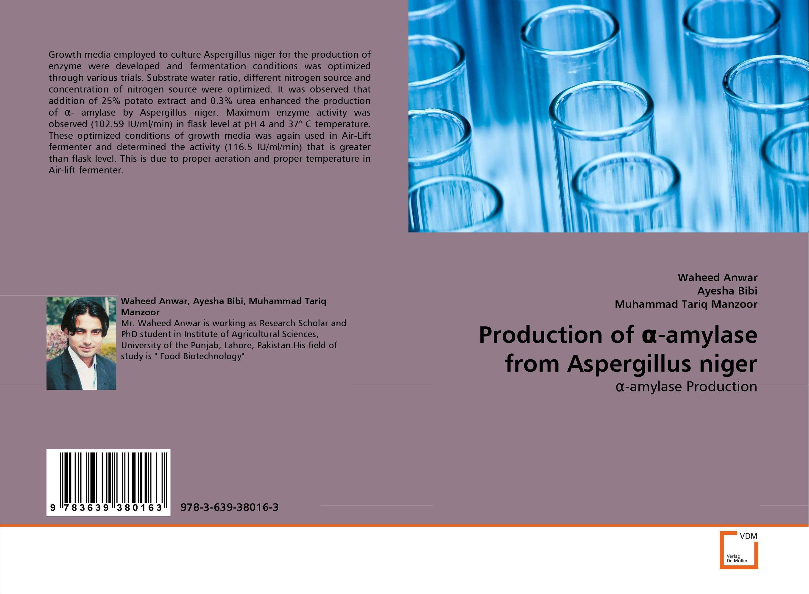 Production of ?-amylase from Aspergillus niger using enzyme from novozyme