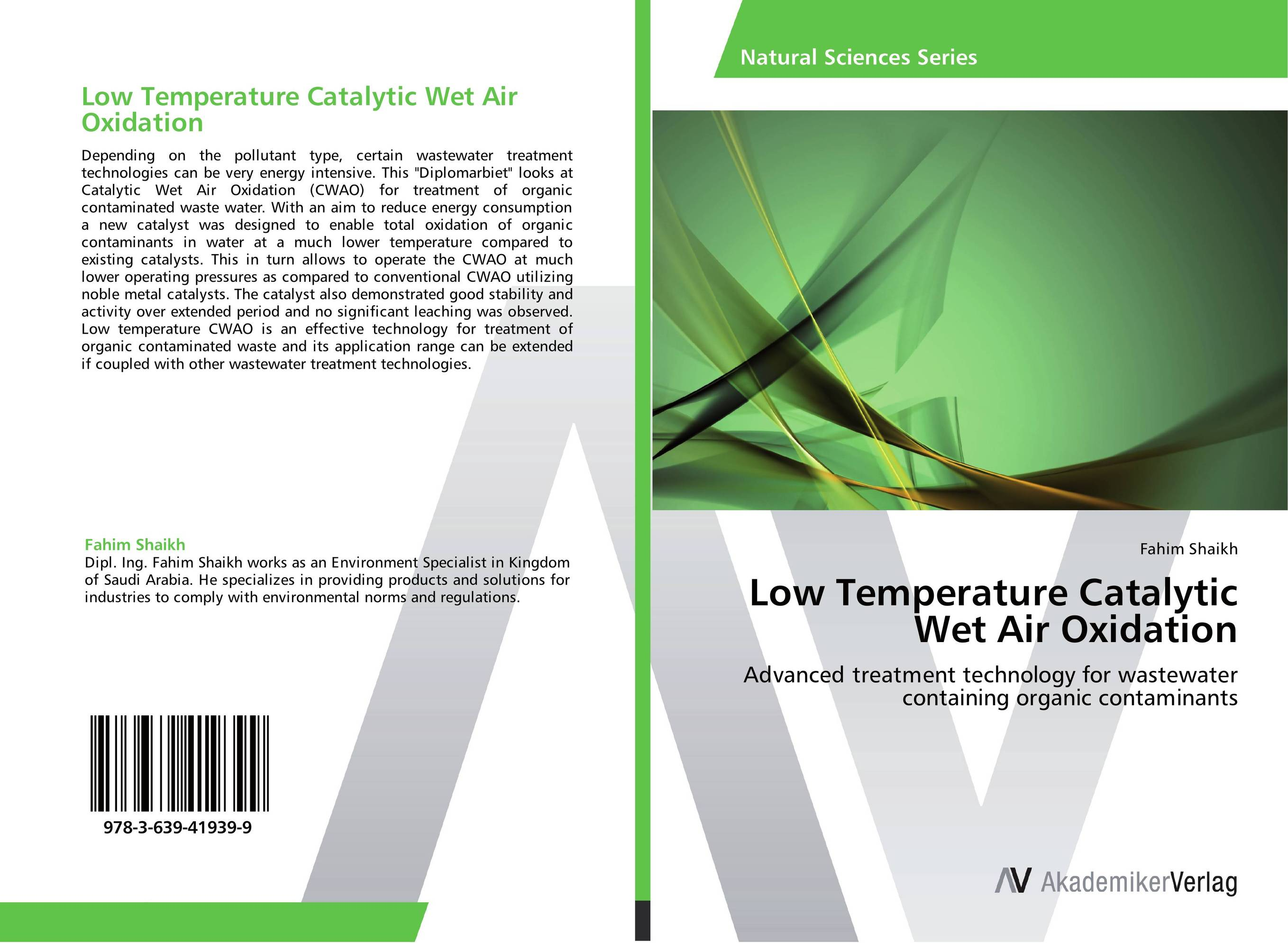 Low Temperature Catalytic Wet Air Oxidation