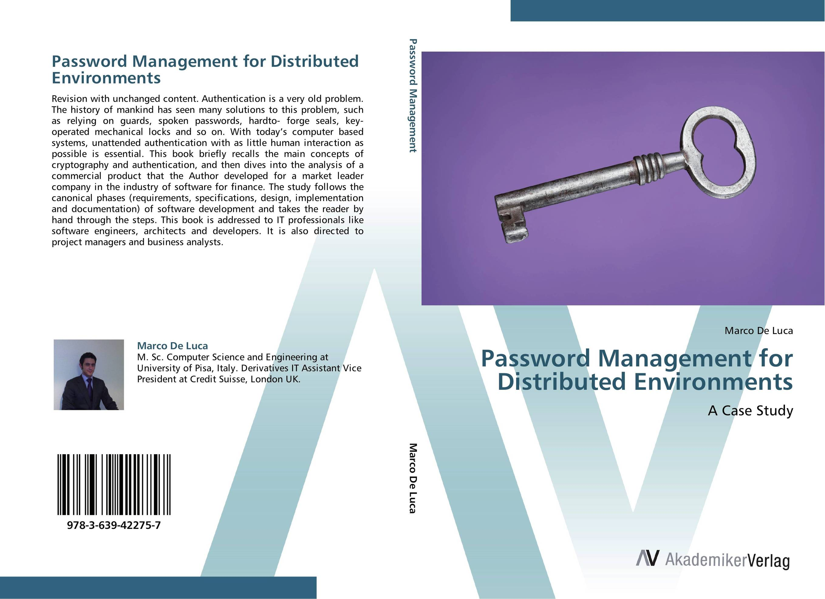 Фото Password Management for Distributed Environments finance and investments