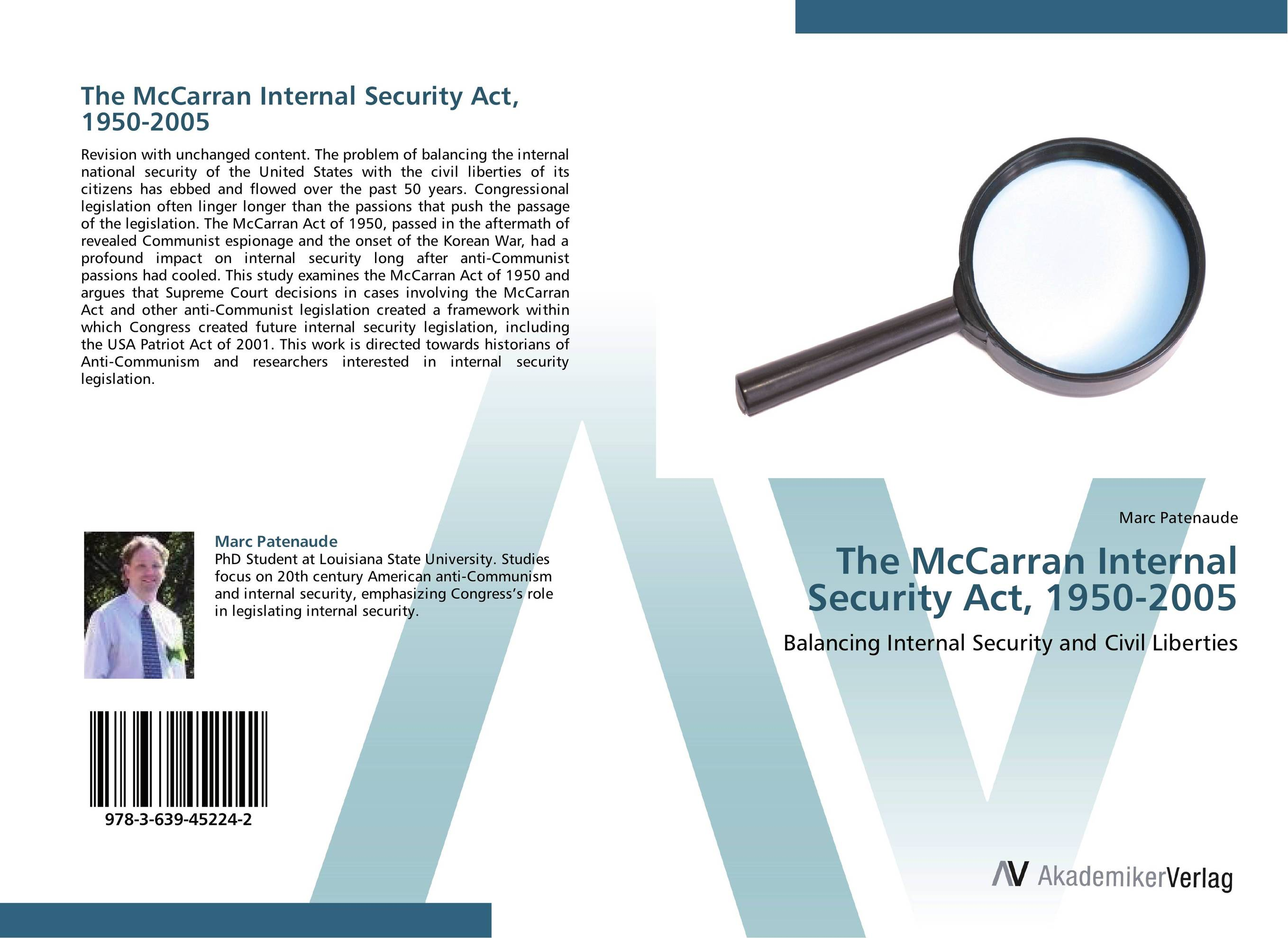 The McCarran Internal Security Act, 1950-2005 victorian america and the civil war
