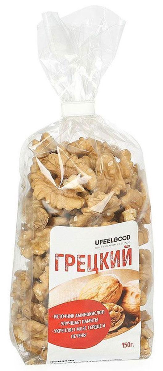UFEELGOOD Грецкий орех, 150 г1013Грецкие орехи содержат именно ту форму витамина Е, которая представляет особую пользу для человеческого организма.