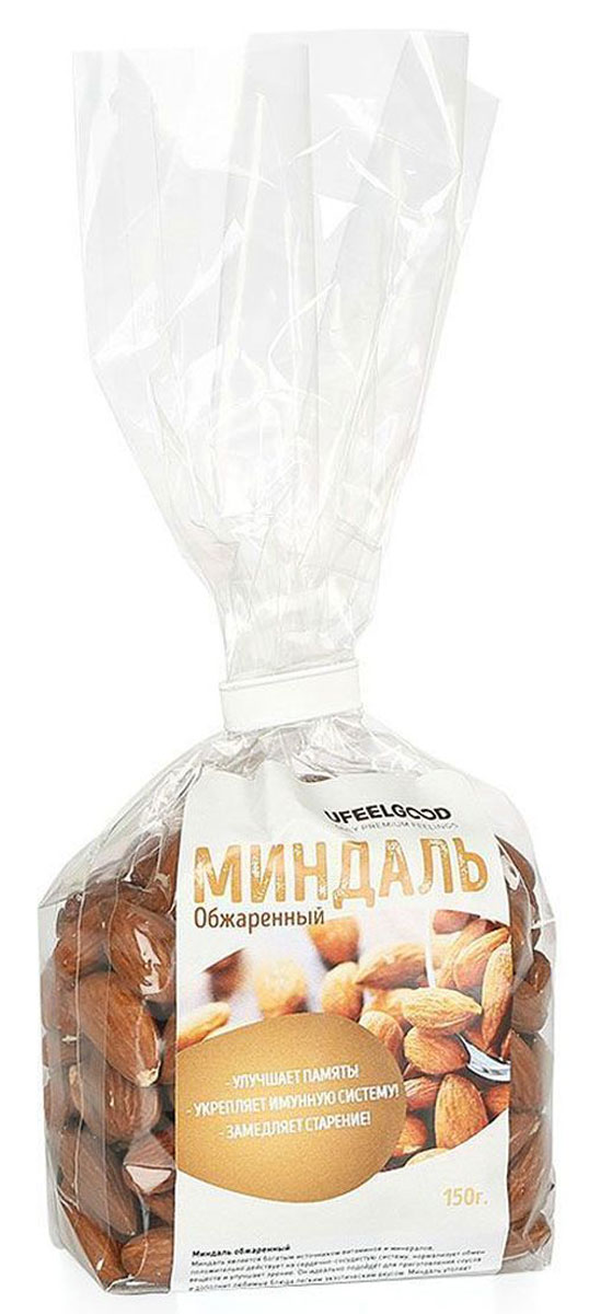 UFEELGOOD Миндаль орех обжаренный, 150 г1016Миндальный орех имеет изысканный вкус, он считается символом здоровья, красоты и долголетия.