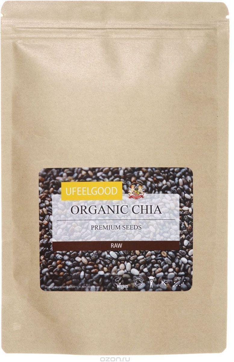 UFEELGOOD Organic Chia Premium Seeds органические семена чиа, 1 кг ufeelgood organic black sesame seeds органический черный кунжут 200 г