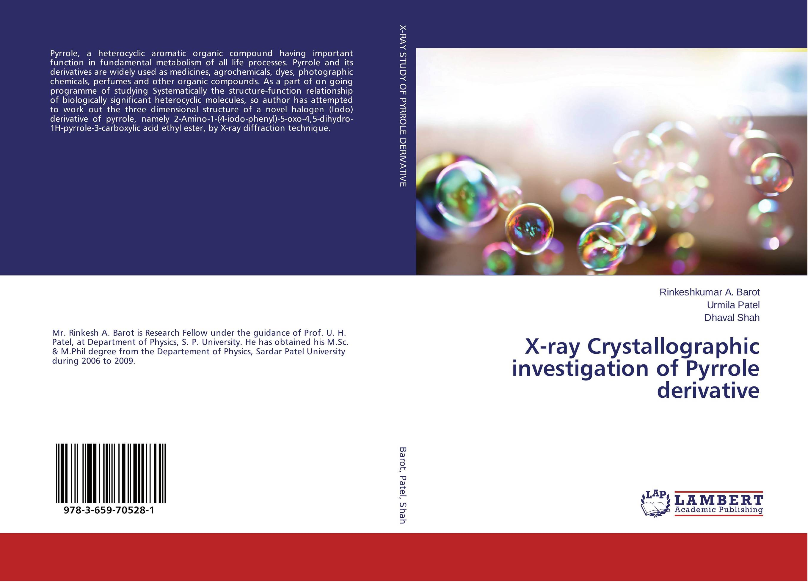 X-ray Crystallographic investigation of Pyrrole derivative x ray crystallographic and theoretical investigations on aromatic compounds