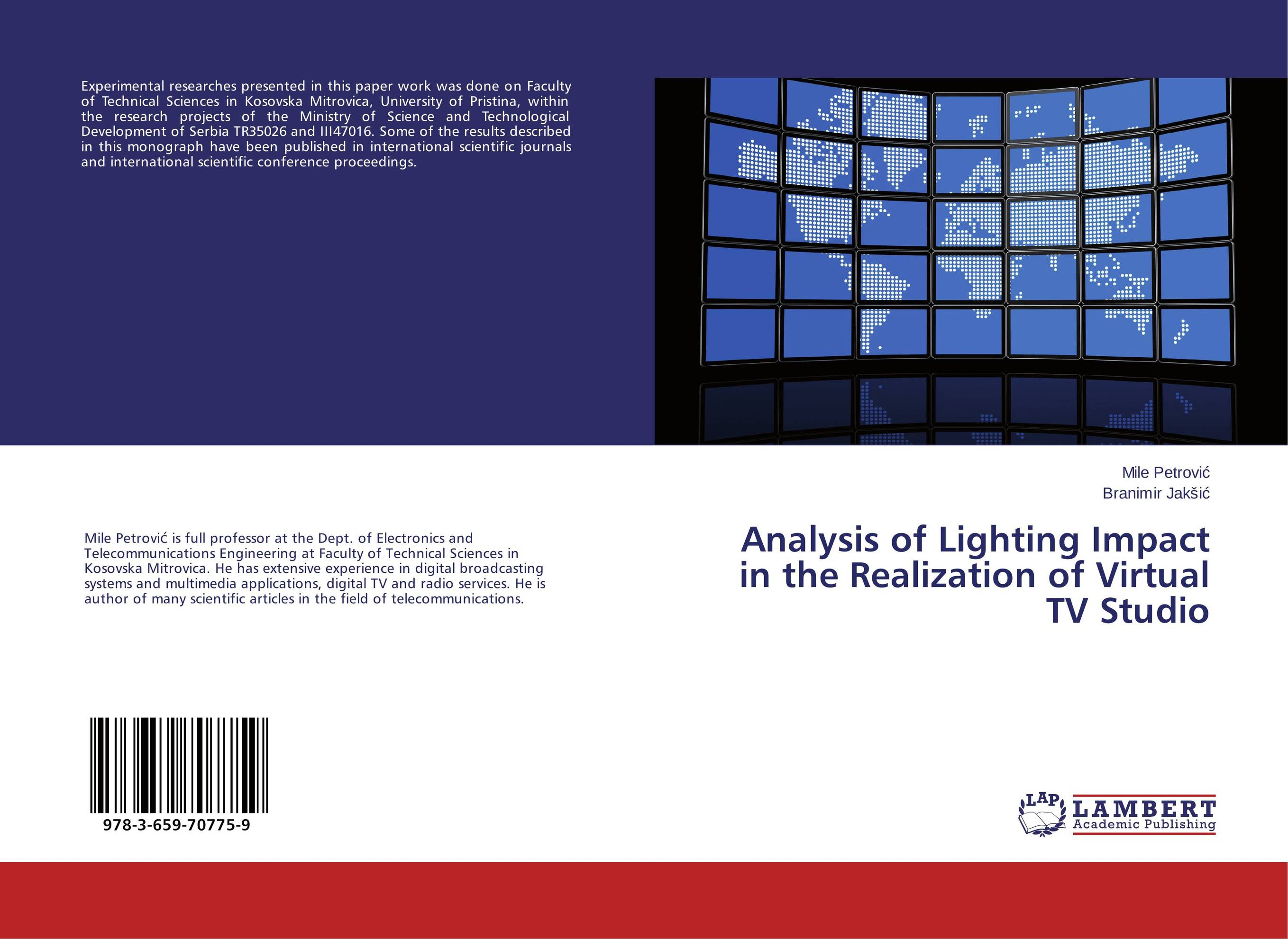 Analysis of Lighting Impact in the Realization of Virtual TV Studio сборник статей advances of science proceedings of articles the international scientific conference czech republic karlovy vary – russia moscow 29–30 march 2016