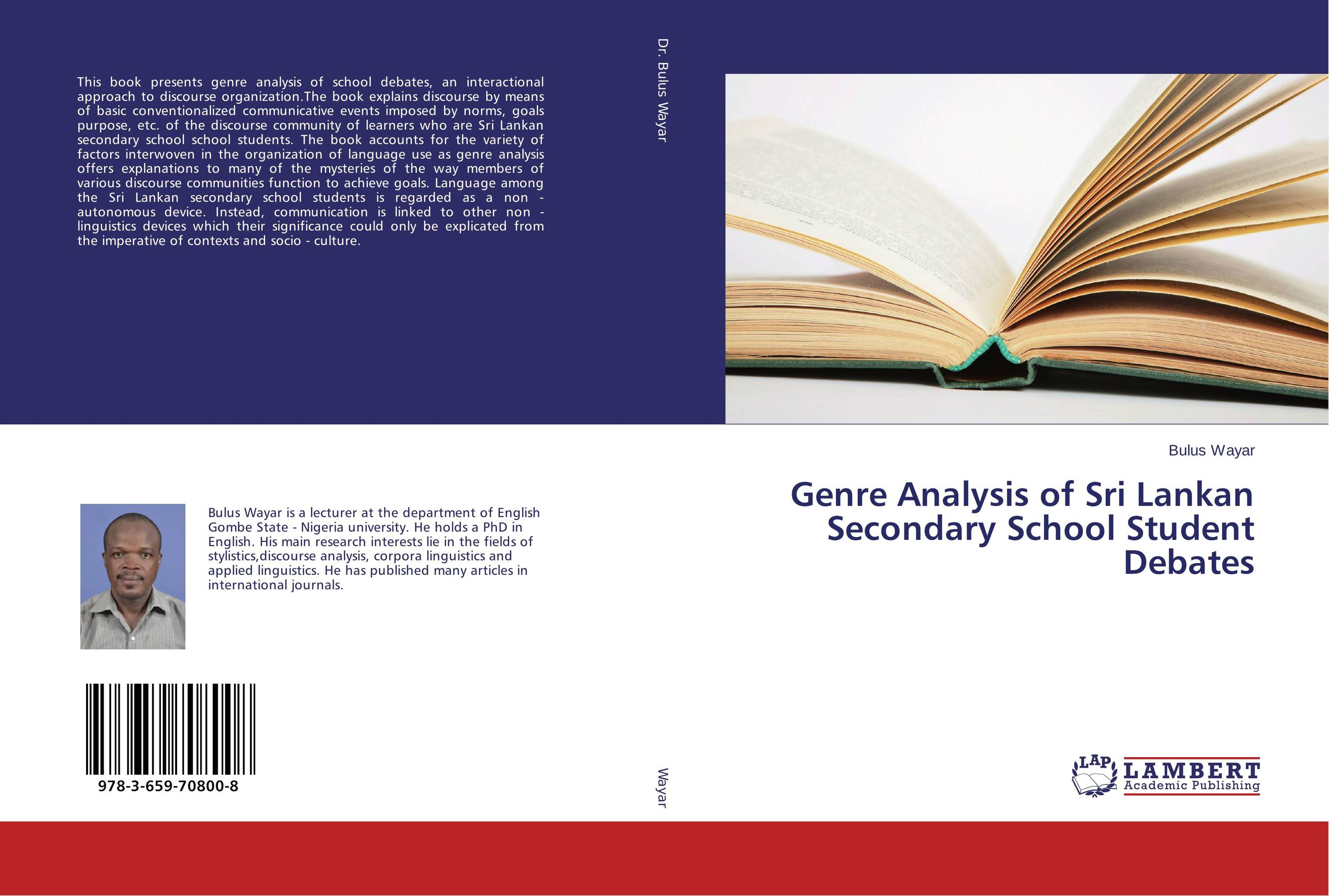 Genre Analysis of Sri Lankan Secondary School Student Debates lisa kohne two way language immersion students how they fare in secondary school