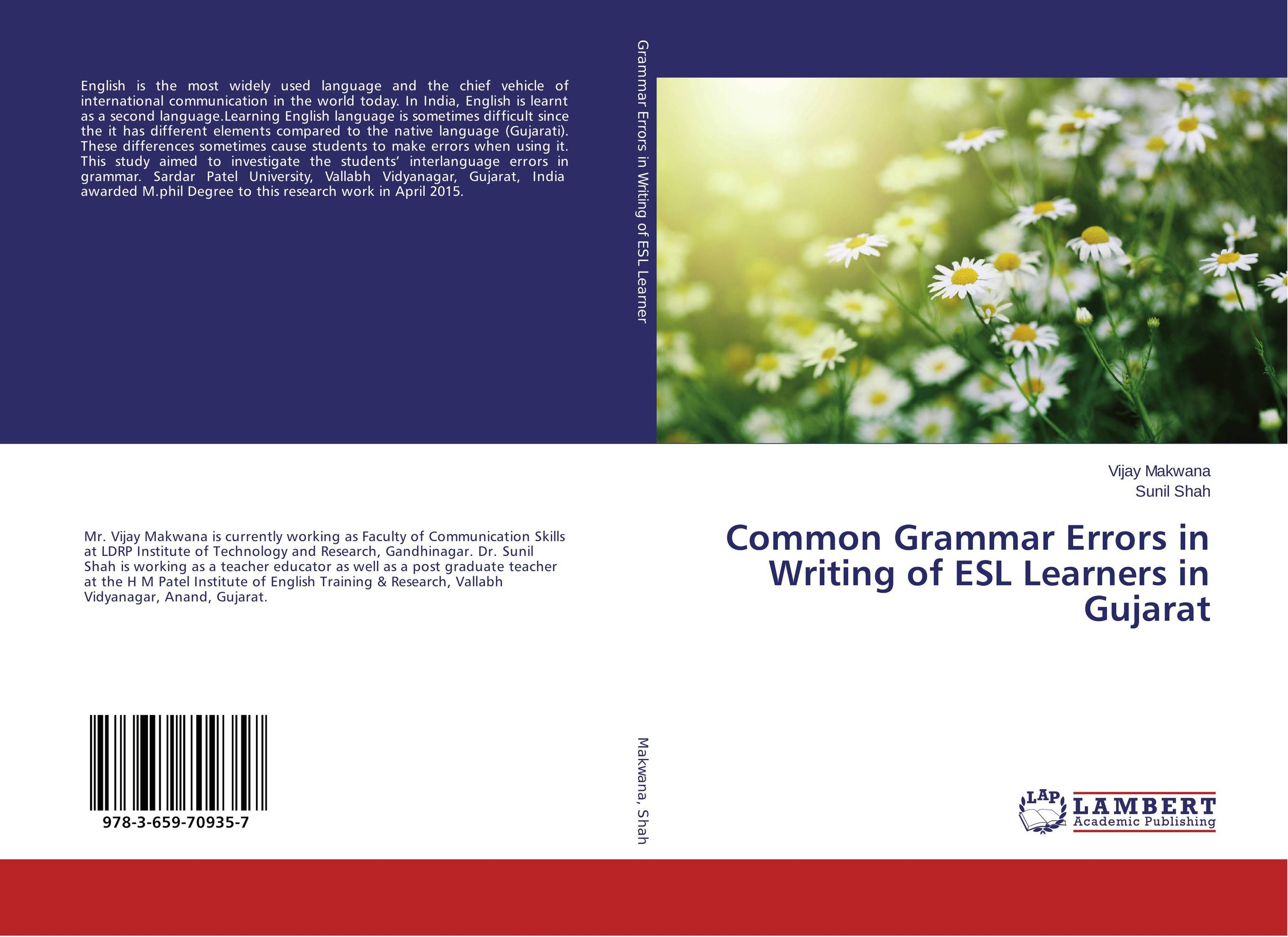 Common Grammar Errors in Writing of ESL Learners in Gujarat the comedy of errors