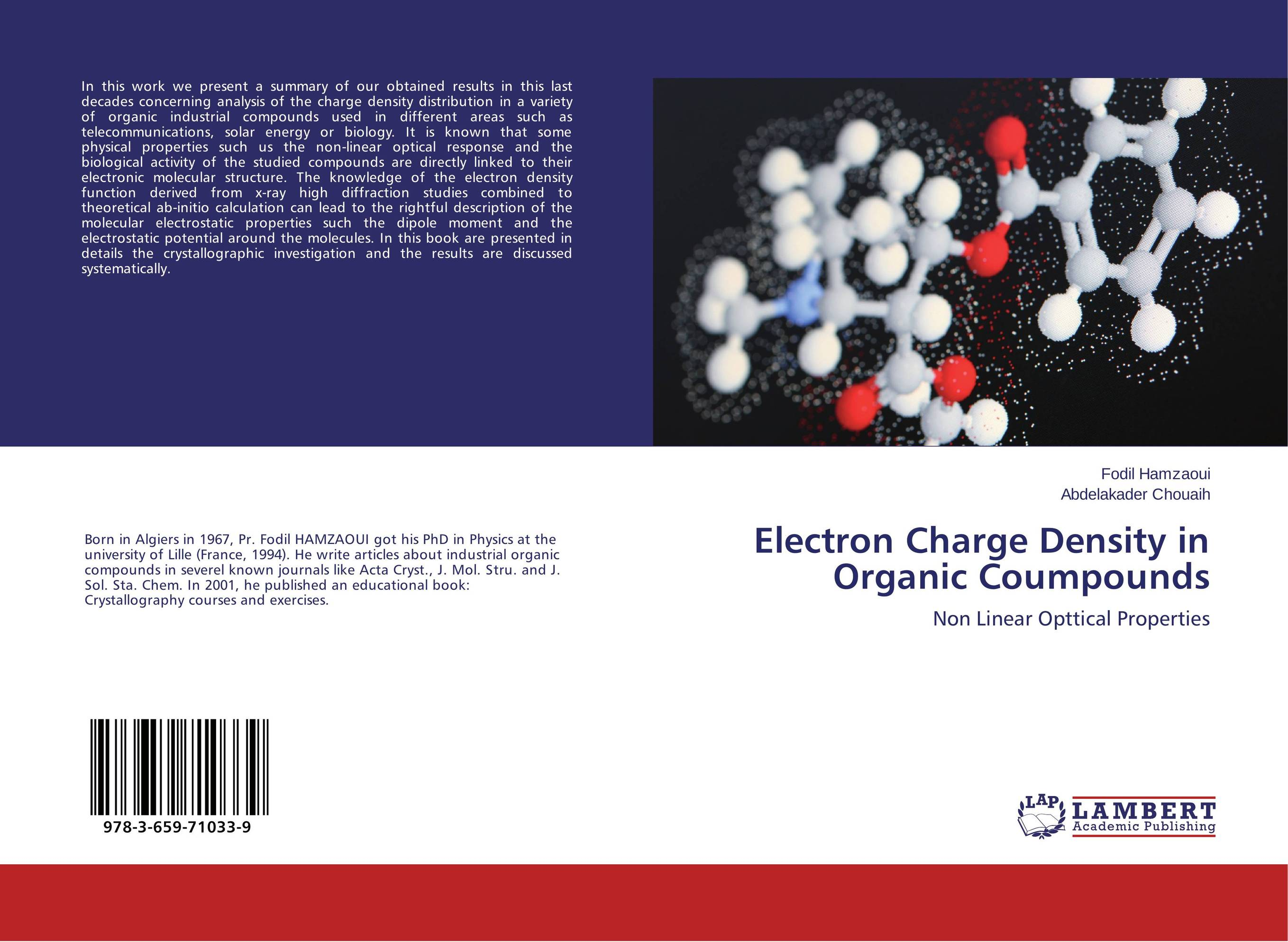 Electron Charge Density in Organic Coumpounds x ray crystallographic and theoretical investigations on aromatic compounds