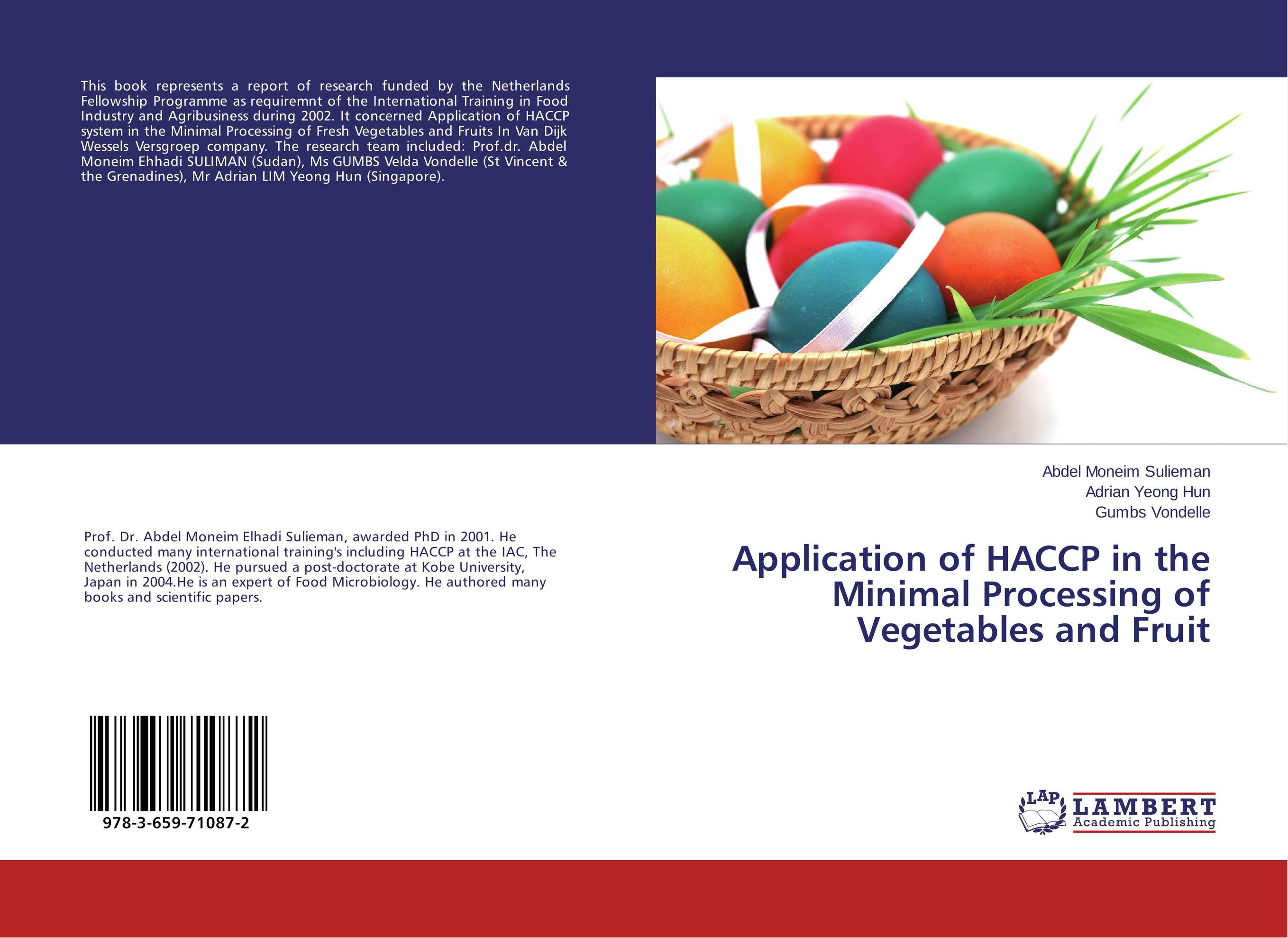 Application of HACCP in the Minimal Processing of Vegetables and Fruit capture of haccp data in the abattoir