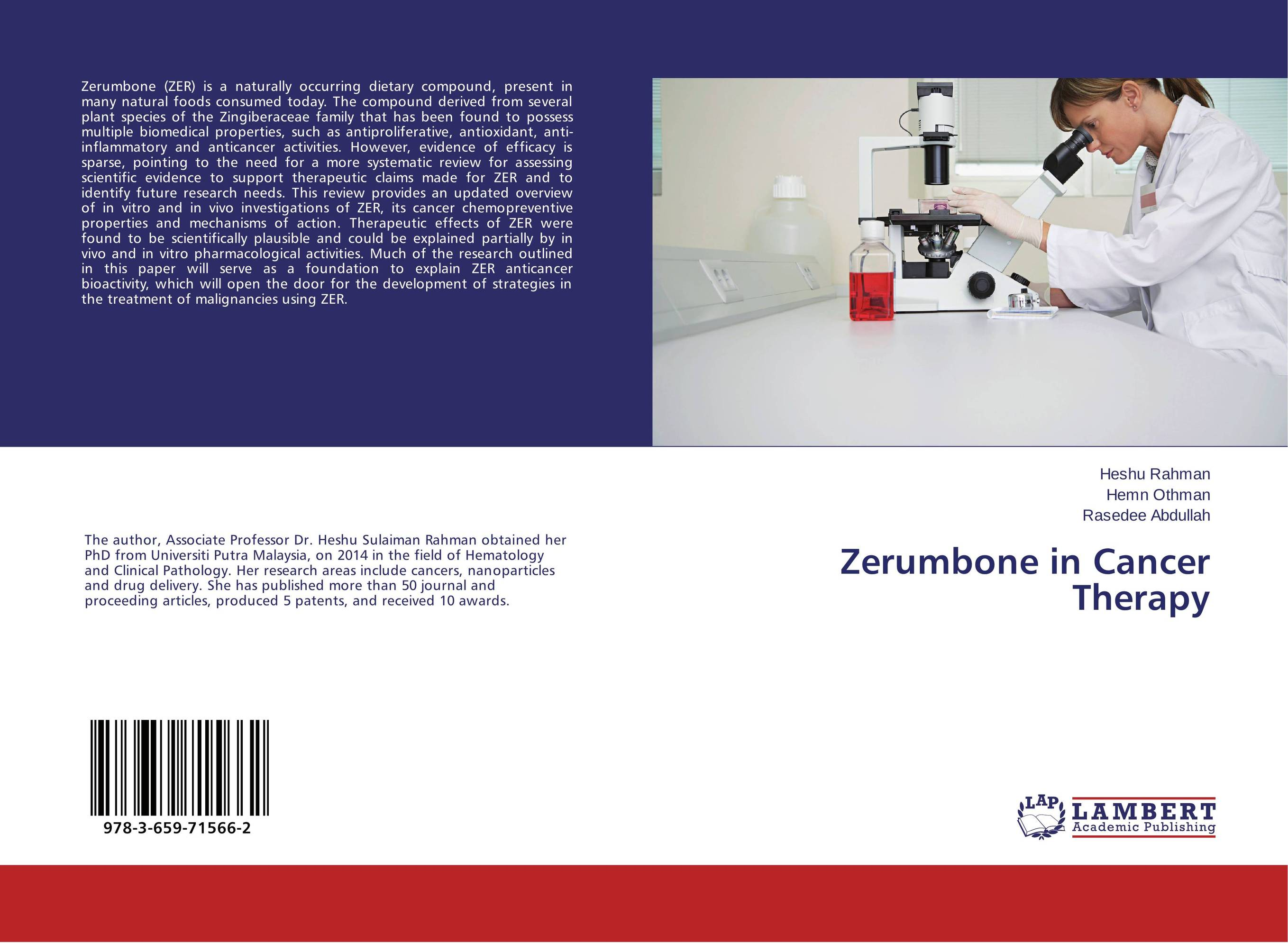 Zerumbone in Cancer Therapy