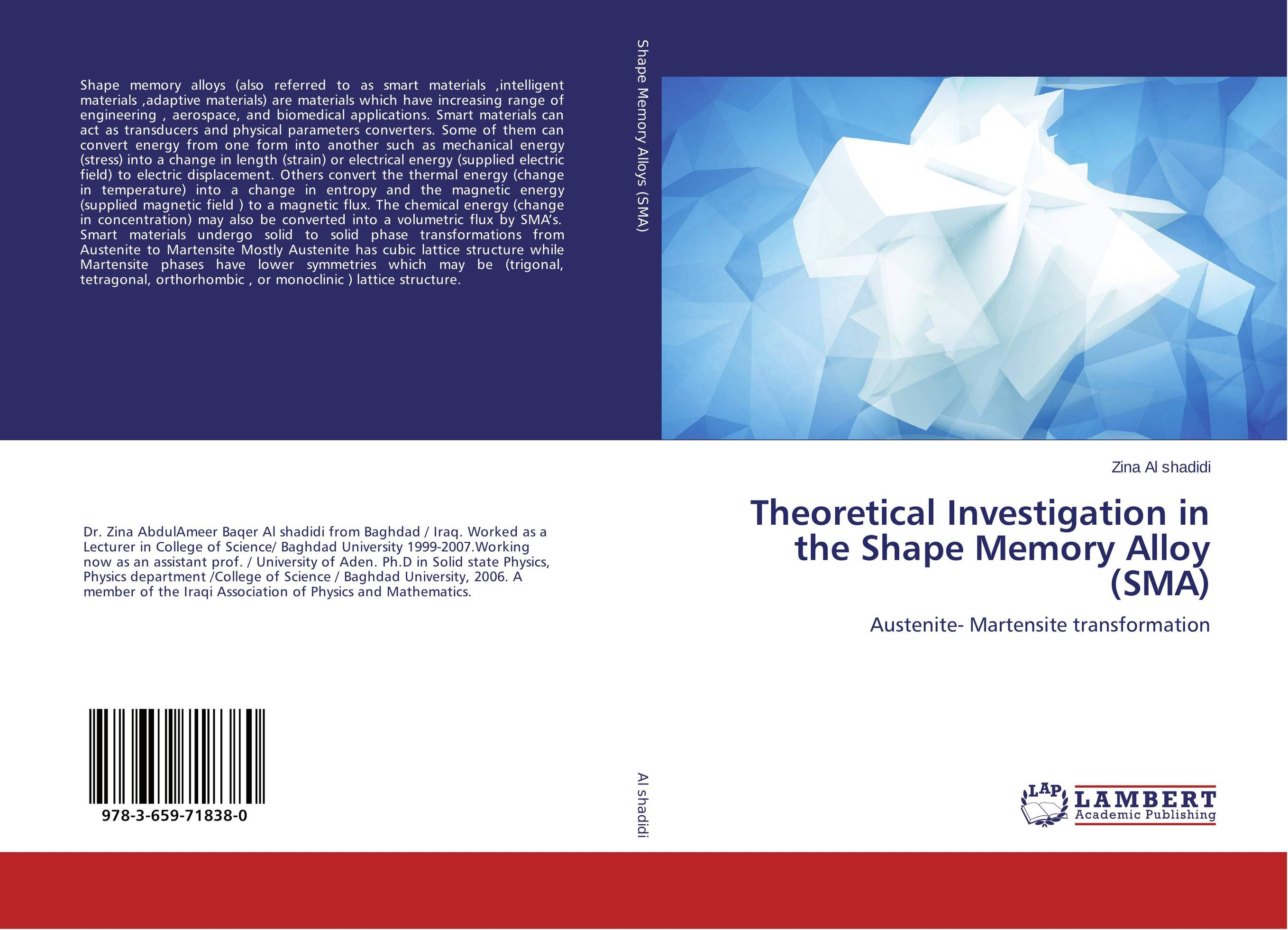 Theoretical Investigation in the Shape Memory Alloy (SMA) juan martinez vega dielectric materials for electrical engineering