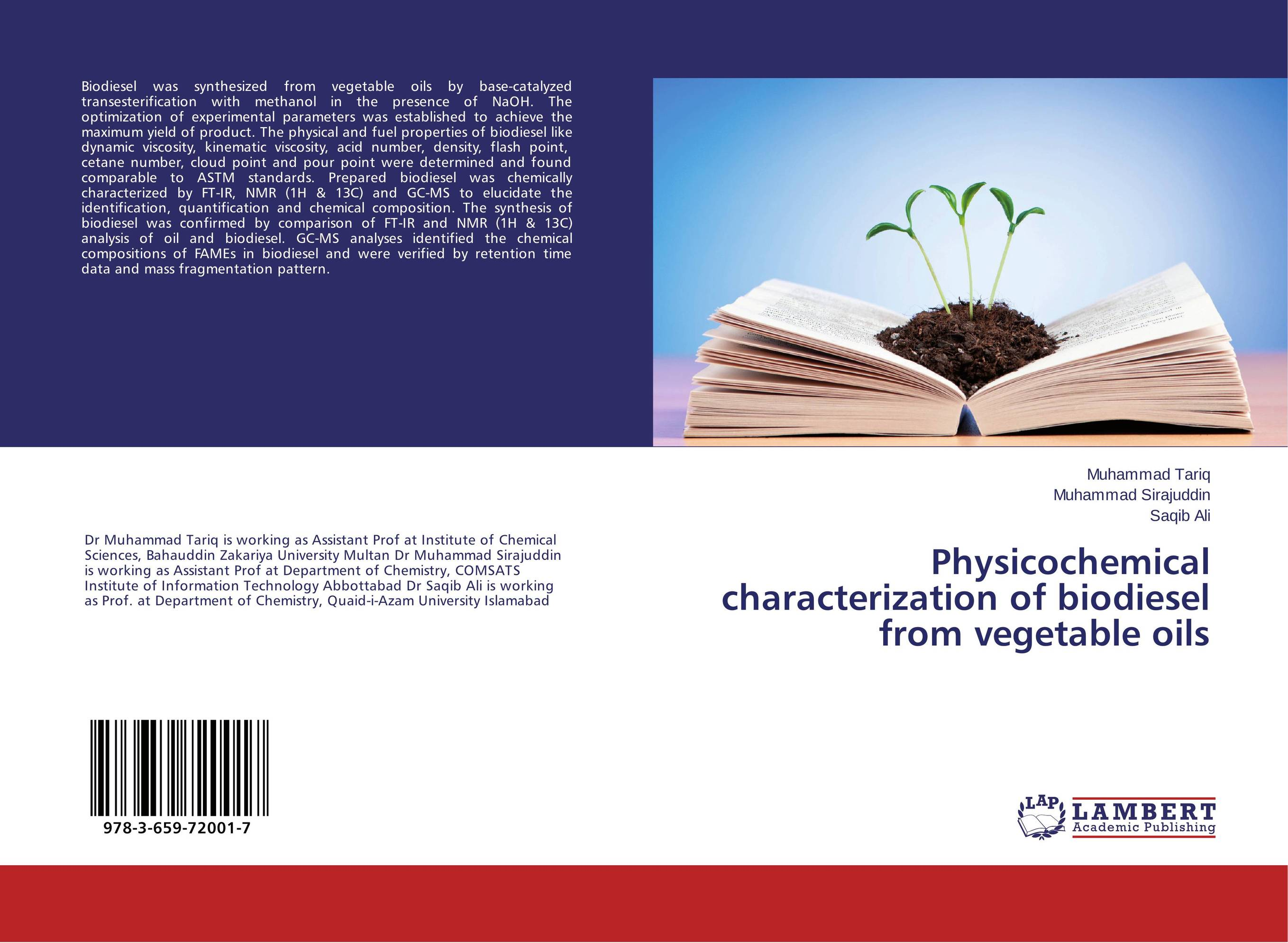 Physicochemical characterization of biodiesel from vegetable oils bim and the cloud