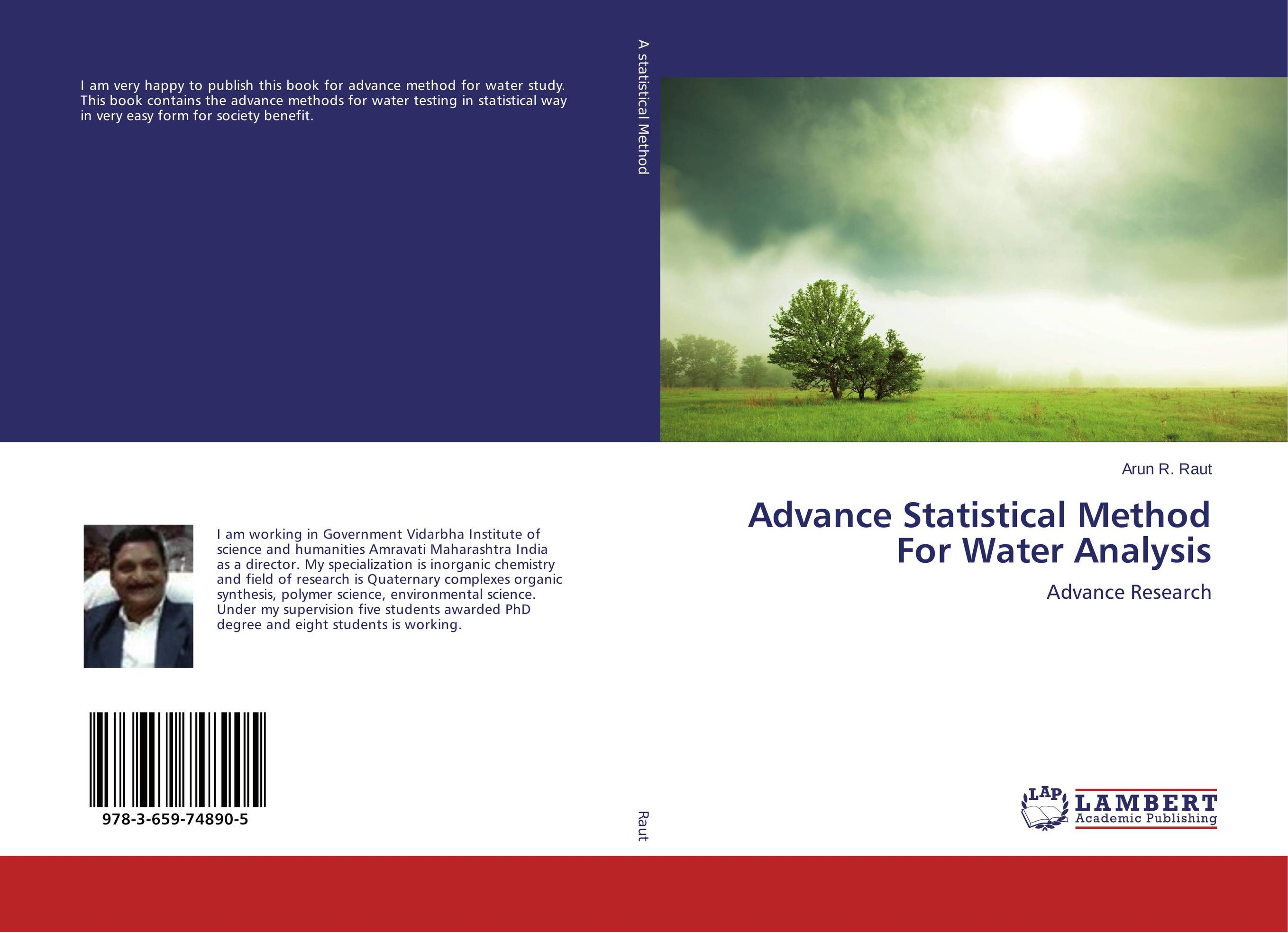 Advance Statistical Method For Water Analysis