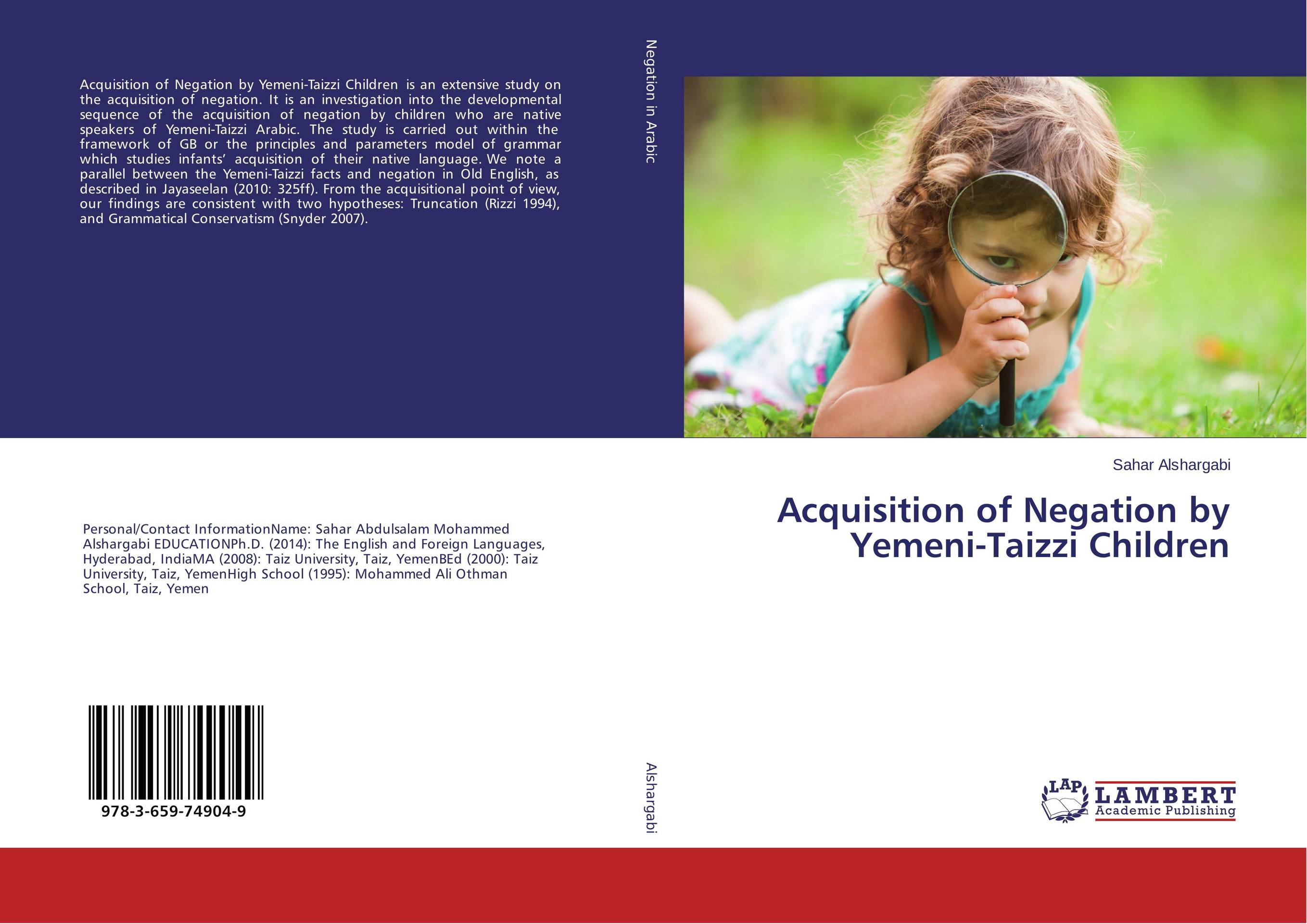Acquisition of Negation by Yemeni-Taizzi Children acquisition of english prepositions by sri lankan esl learners