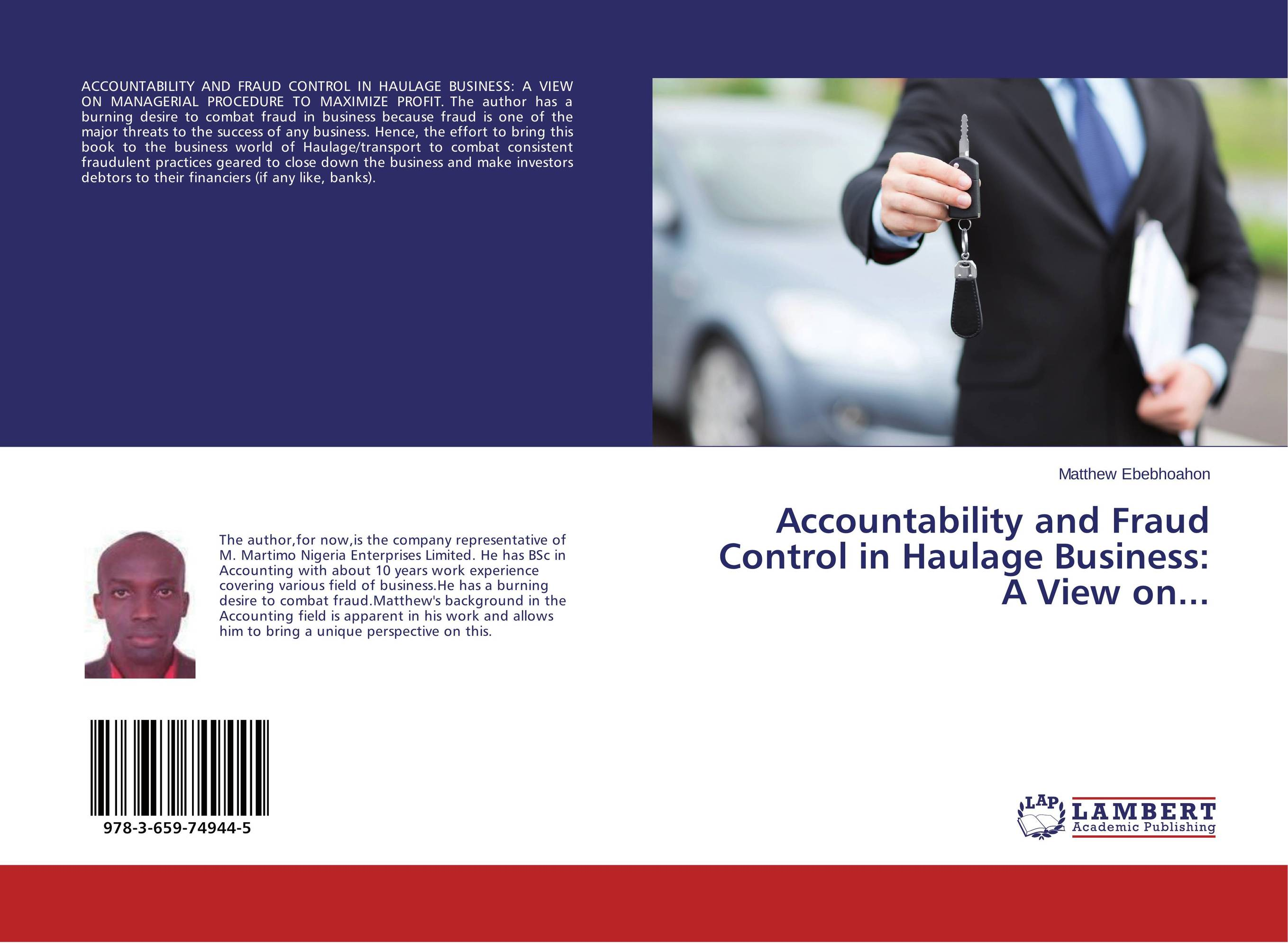 Accountability and Fraud Control in Haulage Business: A View on... martin biegelman t executive roadmap to fraud prevention and internal control creating a culture of compliance
