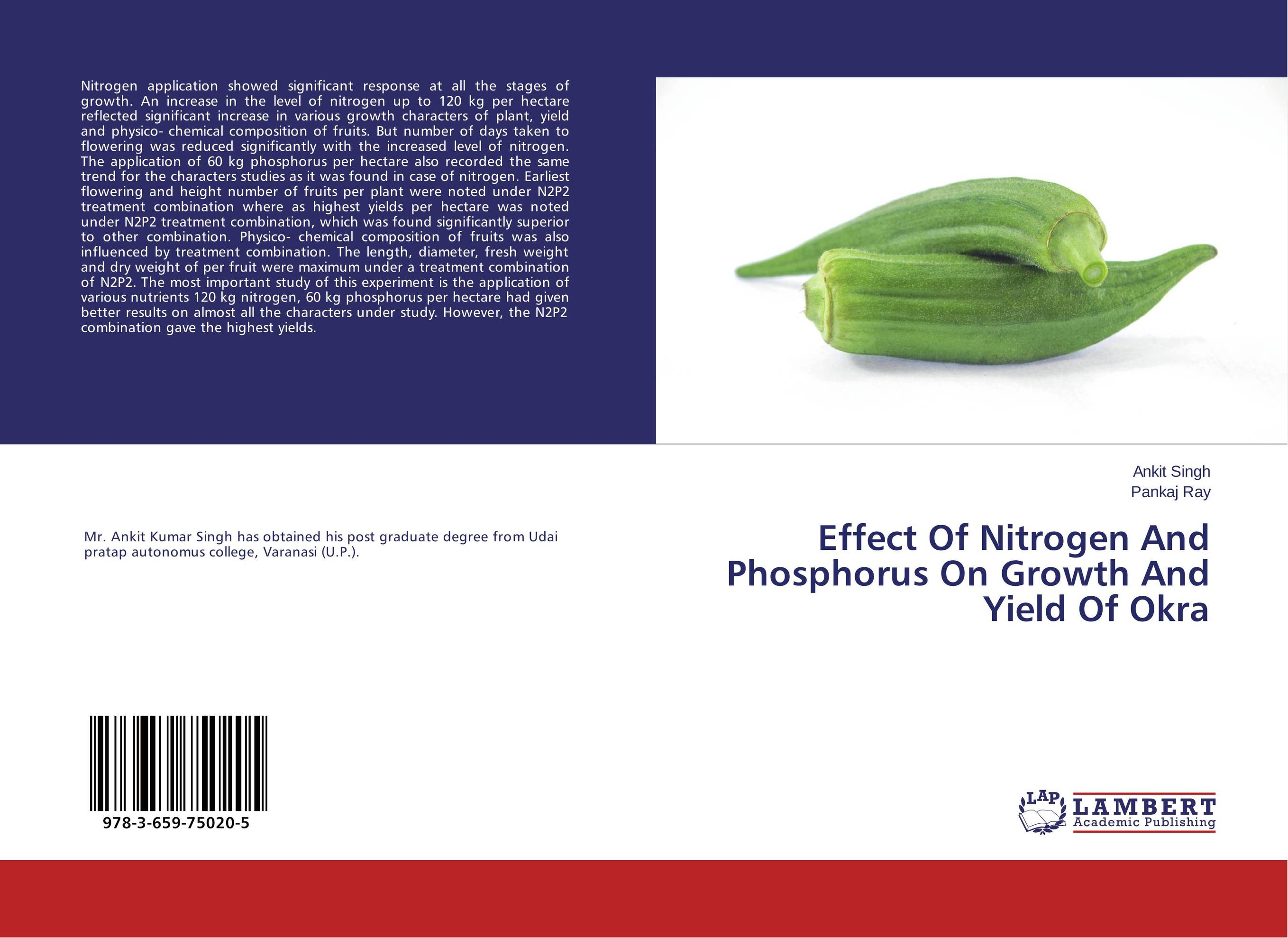 Effect Of Nitrogen And Phosphorus On Growth And Yield Of Okra cleto namoobe and rajender kumar nanwal growth yield and quality of sorghum as influenced by nitrogen levels
