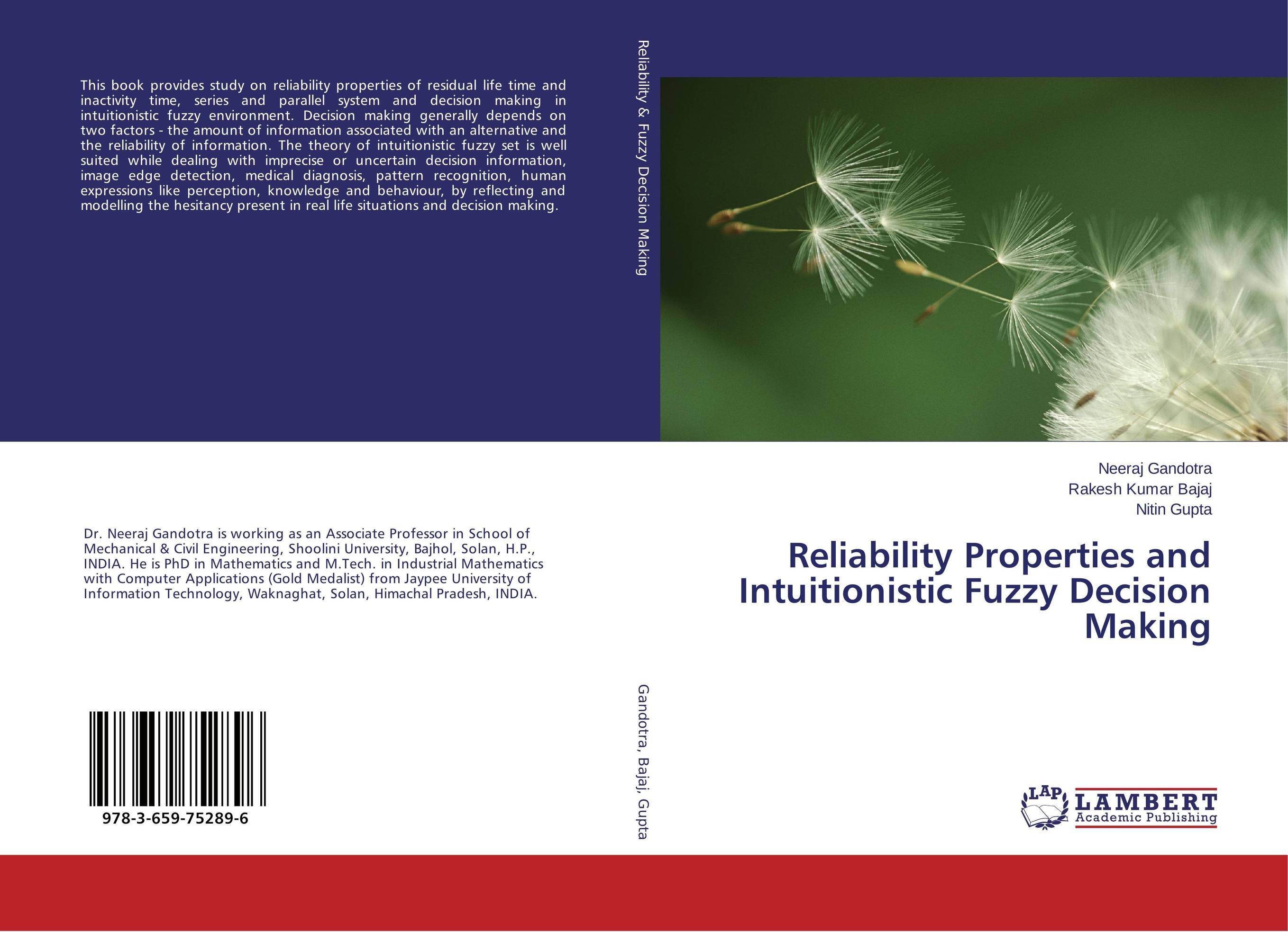 Reliability Properties and Intuitionistic Fuzzy Decision Making catalog 2003 information systems and decision sciences cat alog