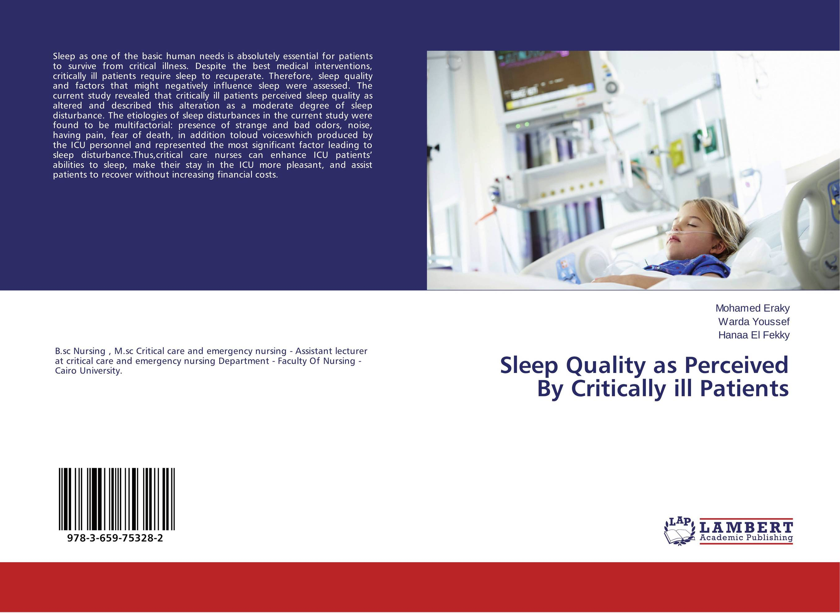 Sleep Quality as Perceived By Critically ill Patients seduced by death – doctors patients