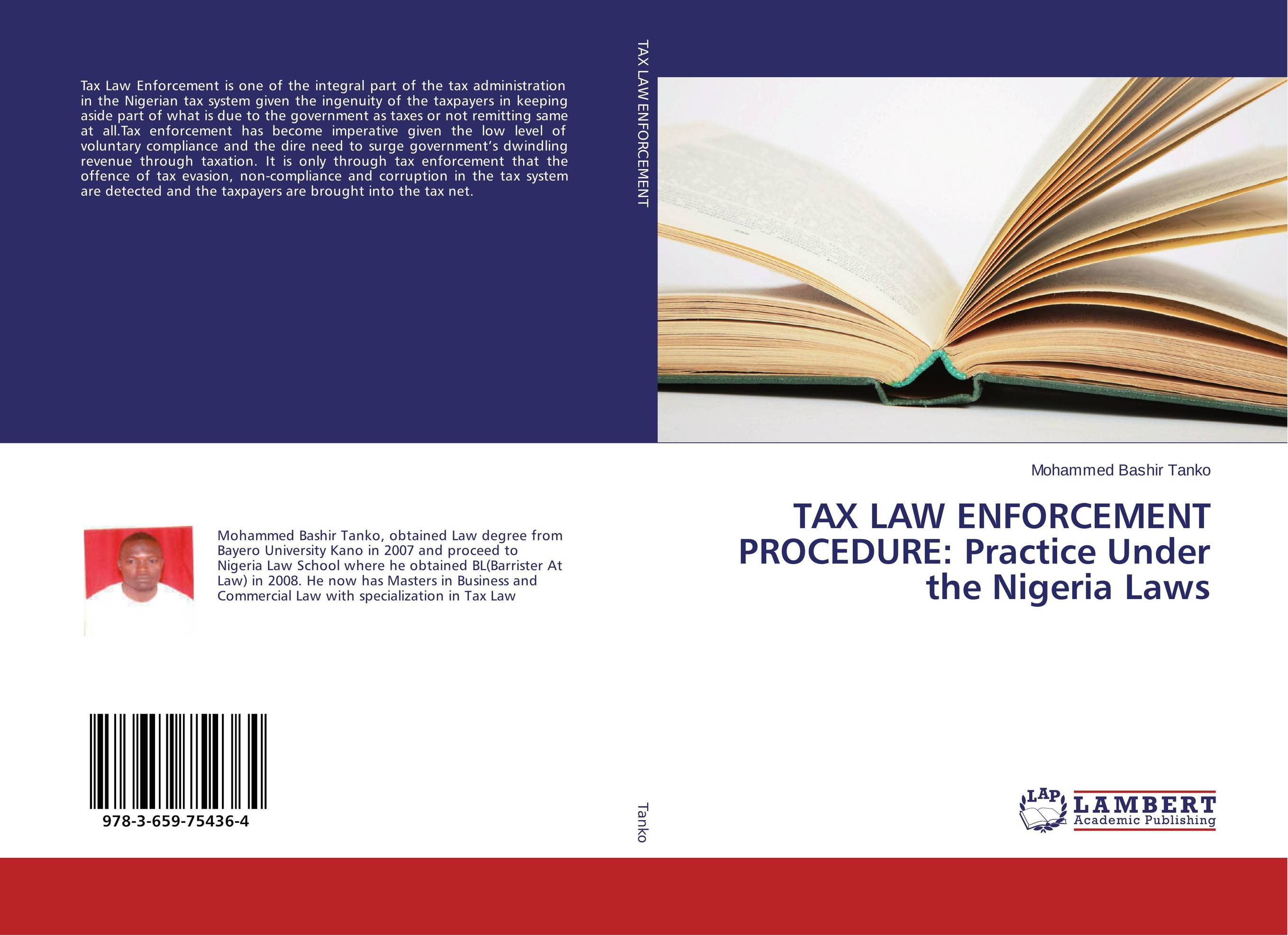 TAX LAW ENFORCEMENT PROCEDURE: Practice Under the Nigeria Laws elena fishtik sara laws are keeping silence during the war