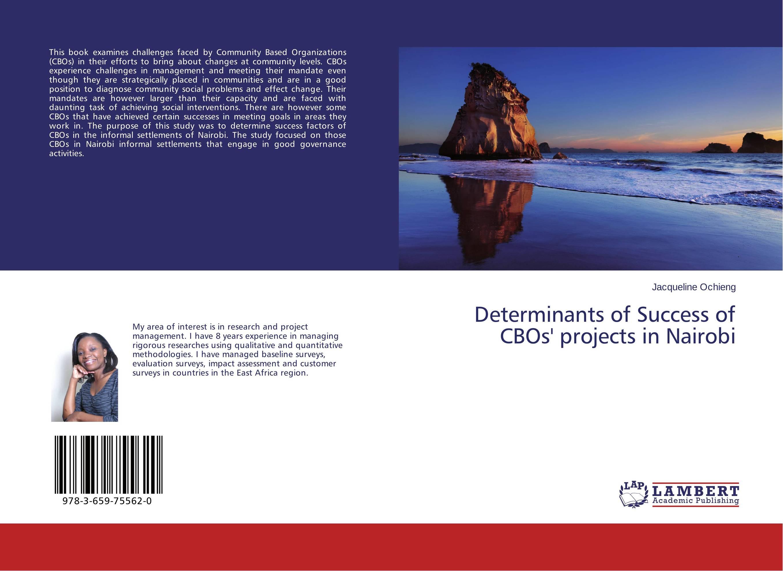 Determinants of Success of CBOs' projects in Nairobi it nairobi 08699 50